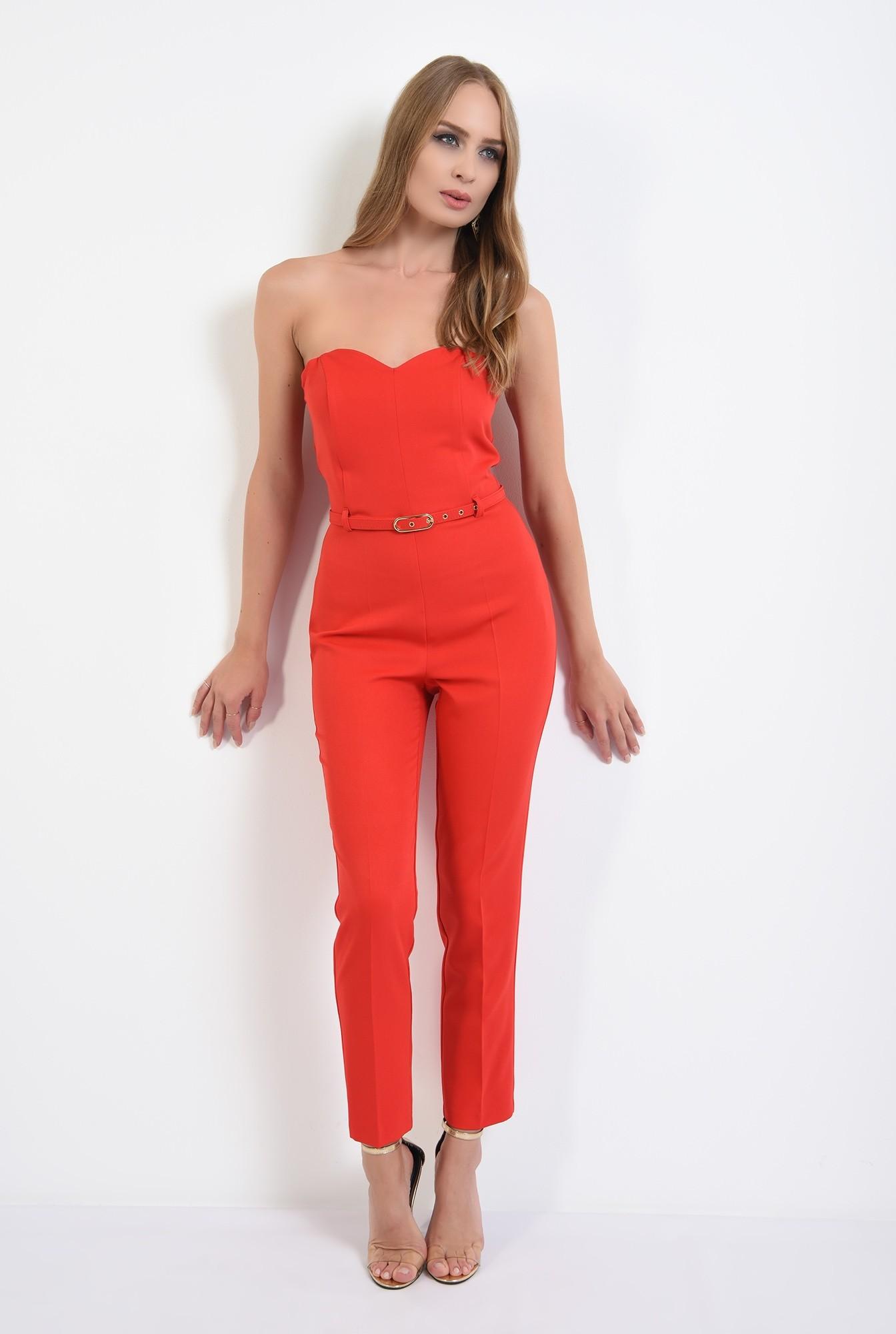 3 -  salopeta lunga, eleganta, rosie, cu corset, curea