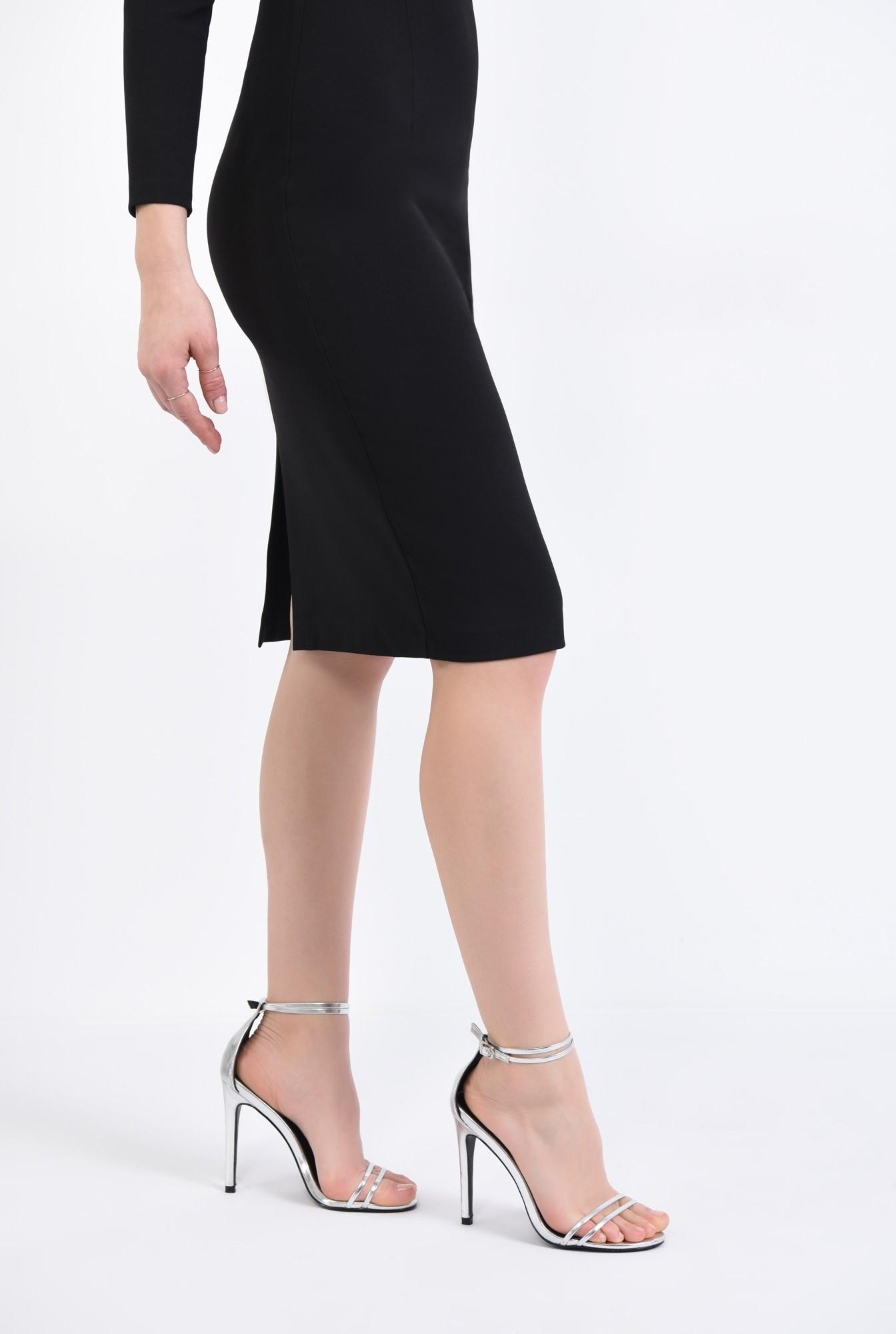 1 - Sandale elegante, argintiu
