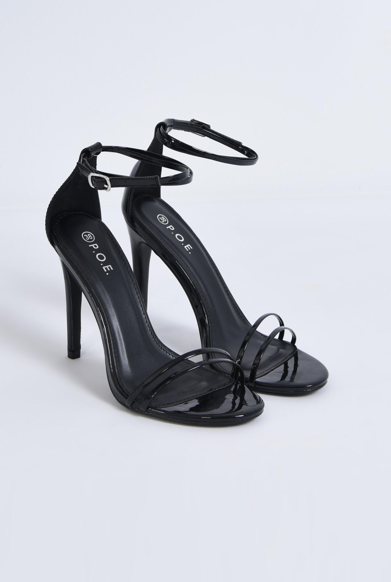 2 - sandale de ocazie, toc inalt, din lac
