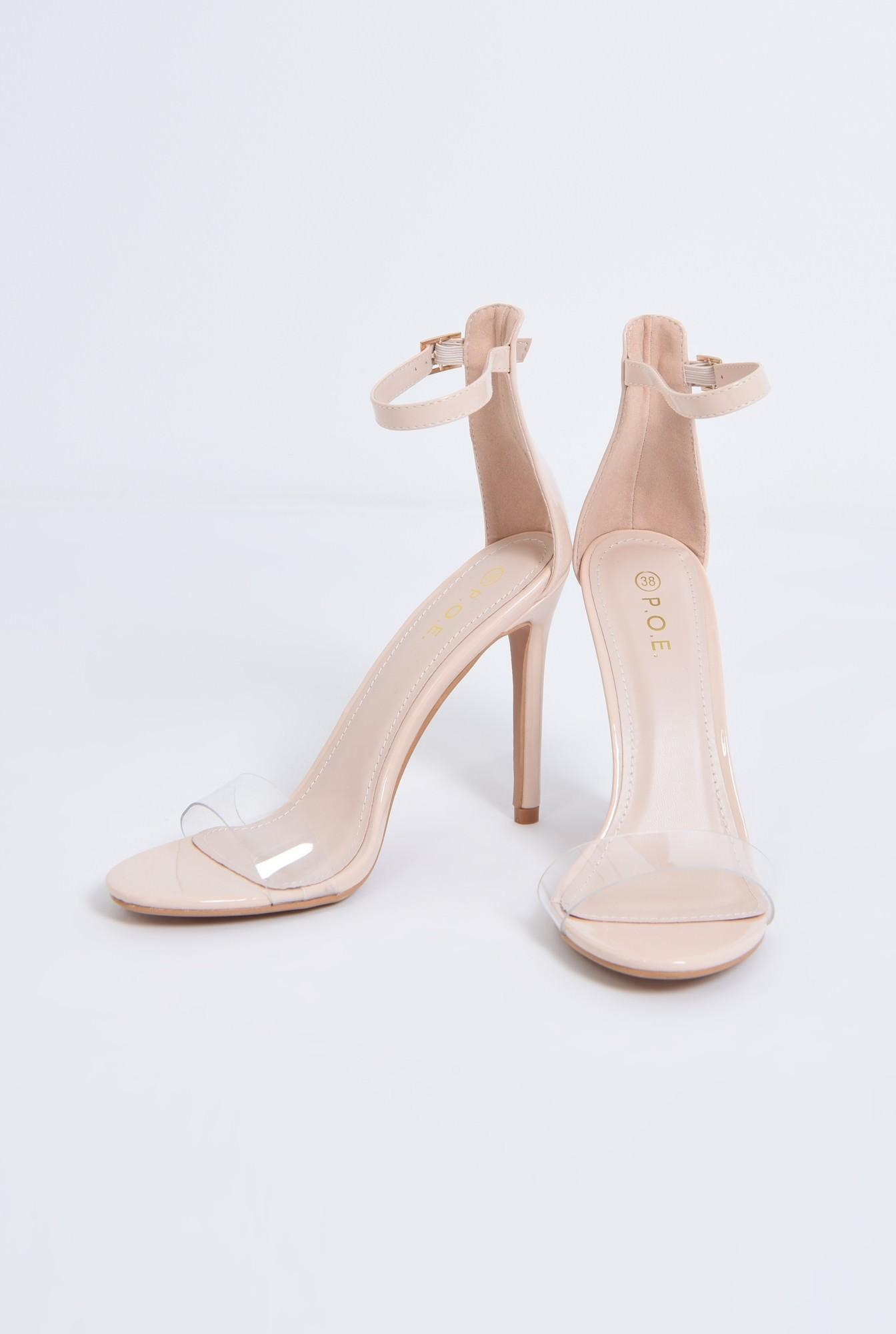 3 - sandale elegante, nude, lac, stiletto