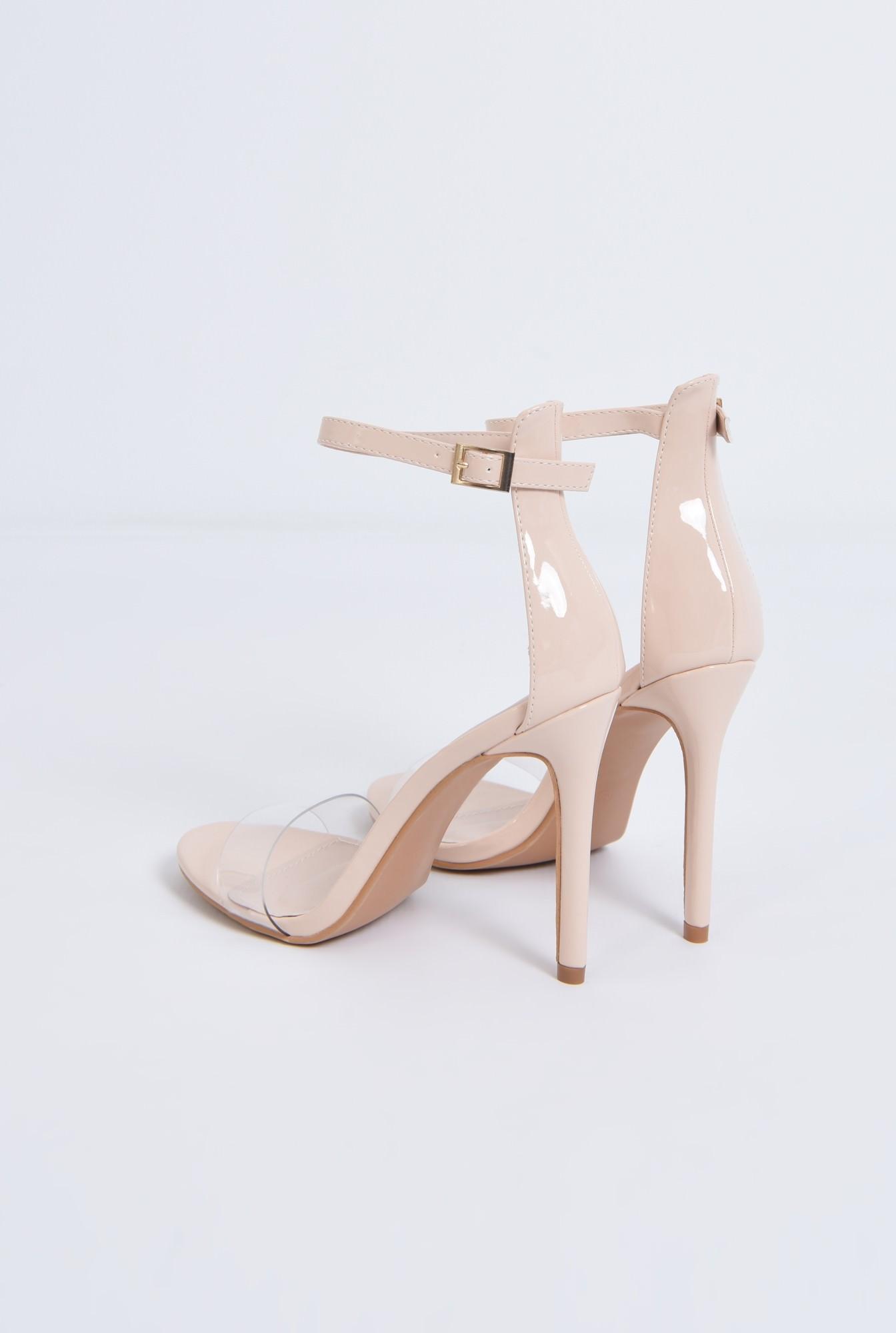 4 - sandale elegante, nude, lac, stiletto