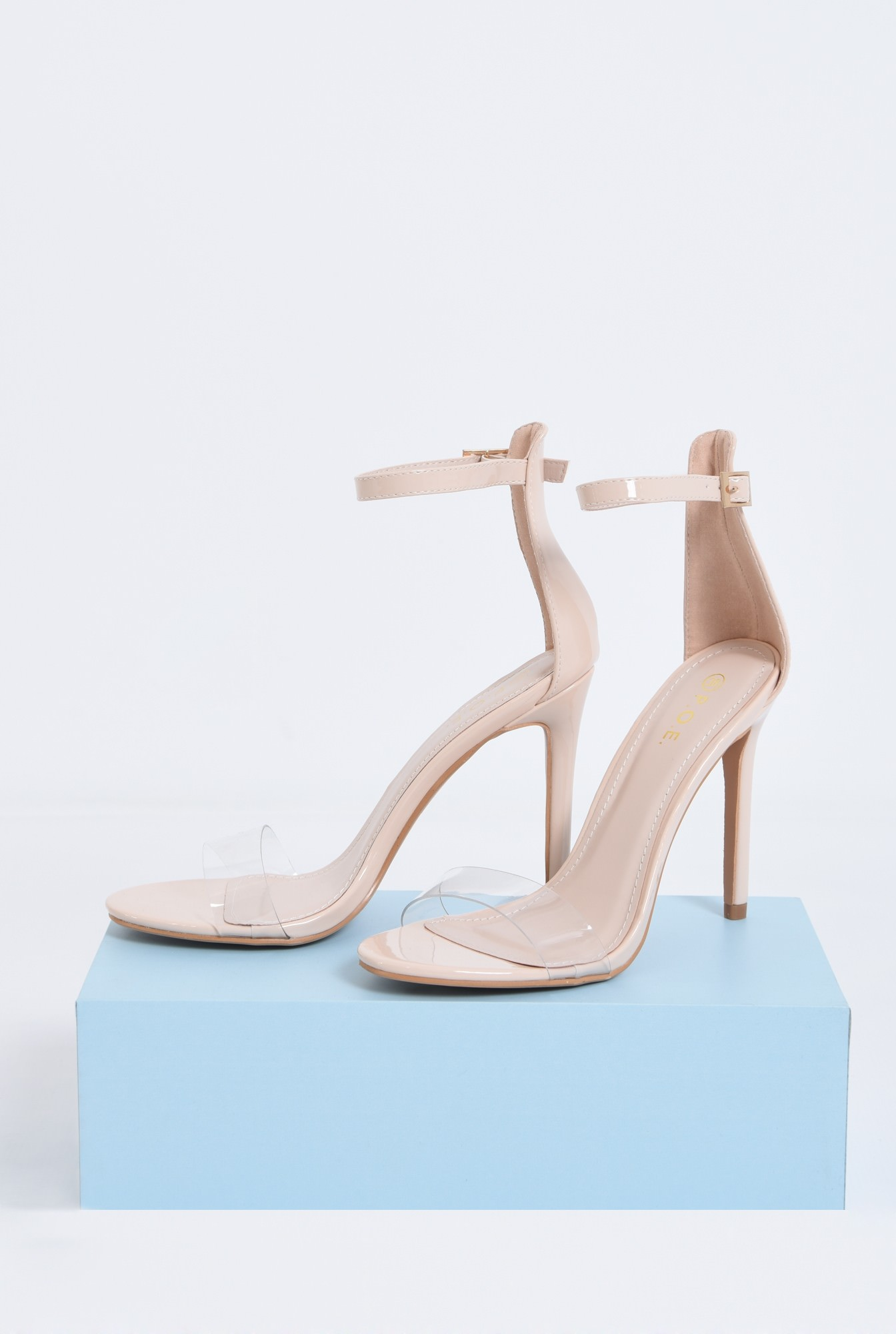 2 - sandale elegante, nude, lac, stiletto