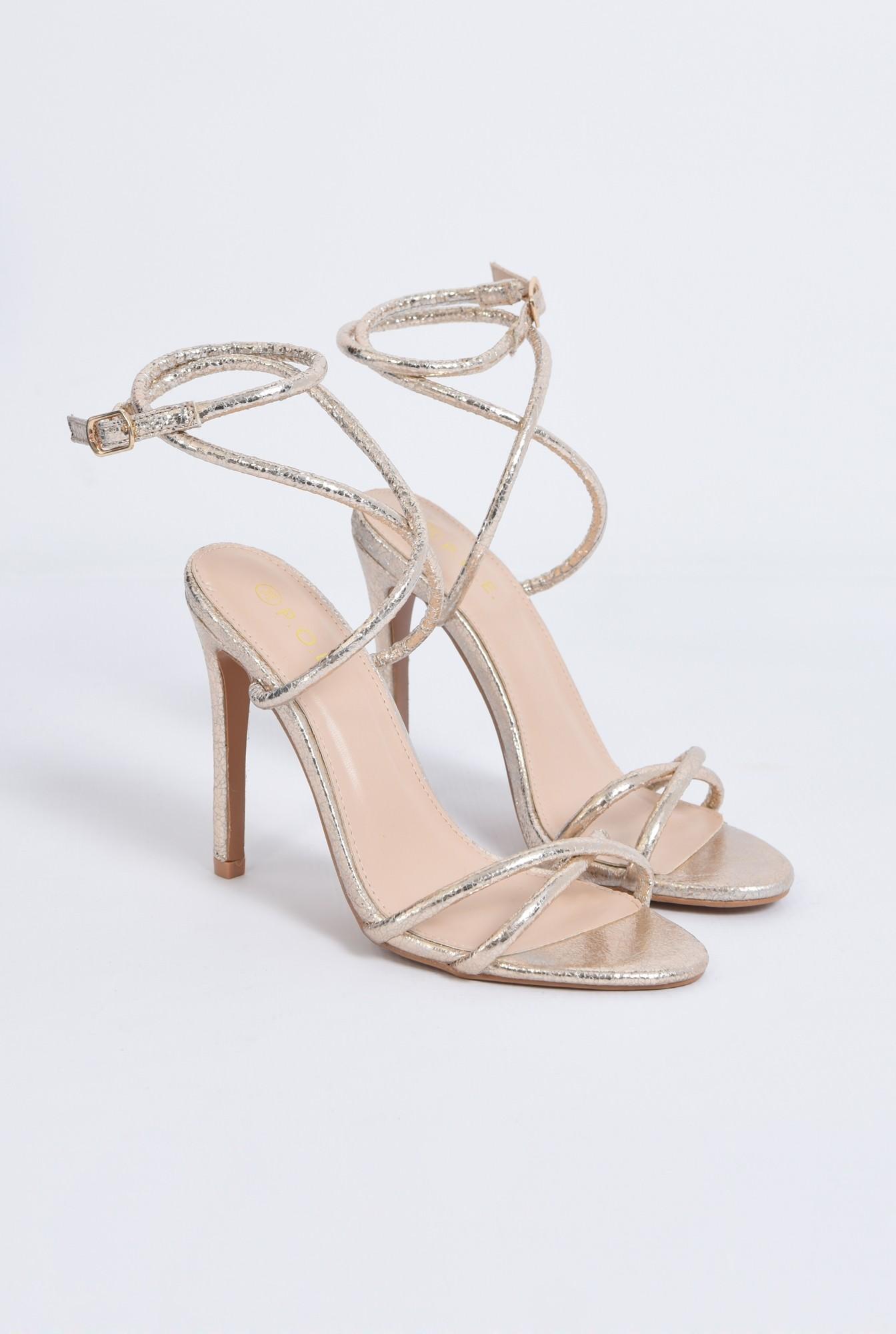2 - sandale de ocazie, barete subtiri, toc inalt