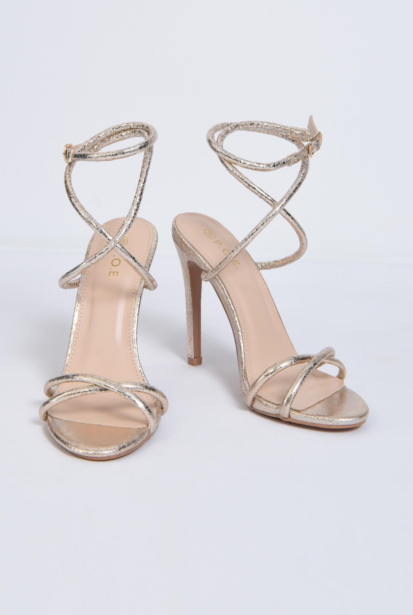3 - sandale de ocazie, barete subtiri, toc inalt