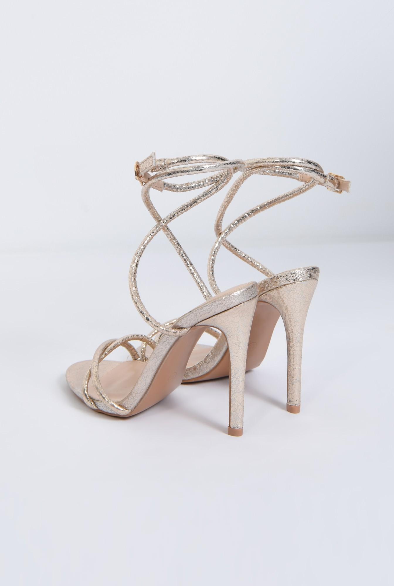 4 - sandale de ocazie, barete subtiri, toc inalt