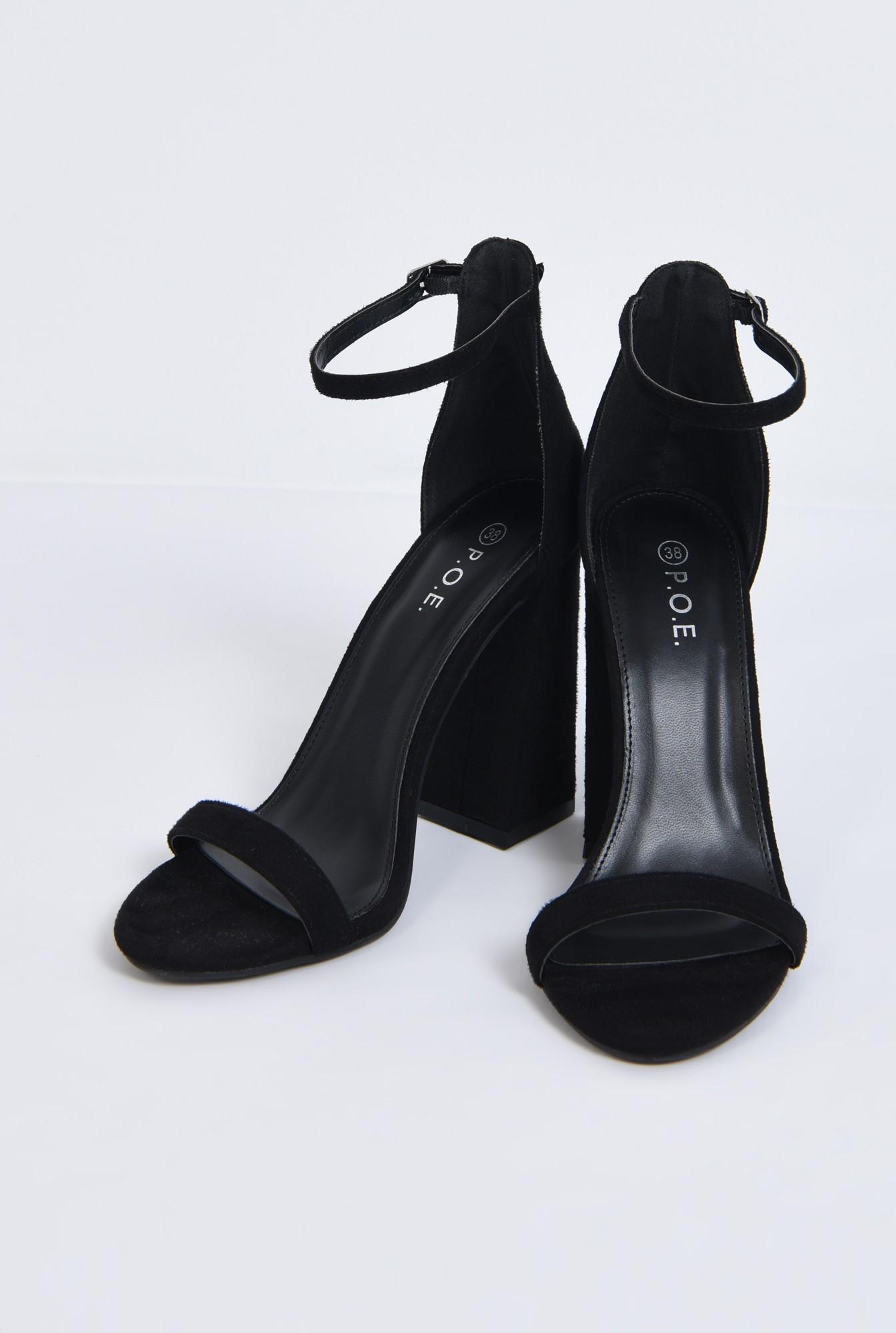 2 - sandale toc inalt, piele ecologica