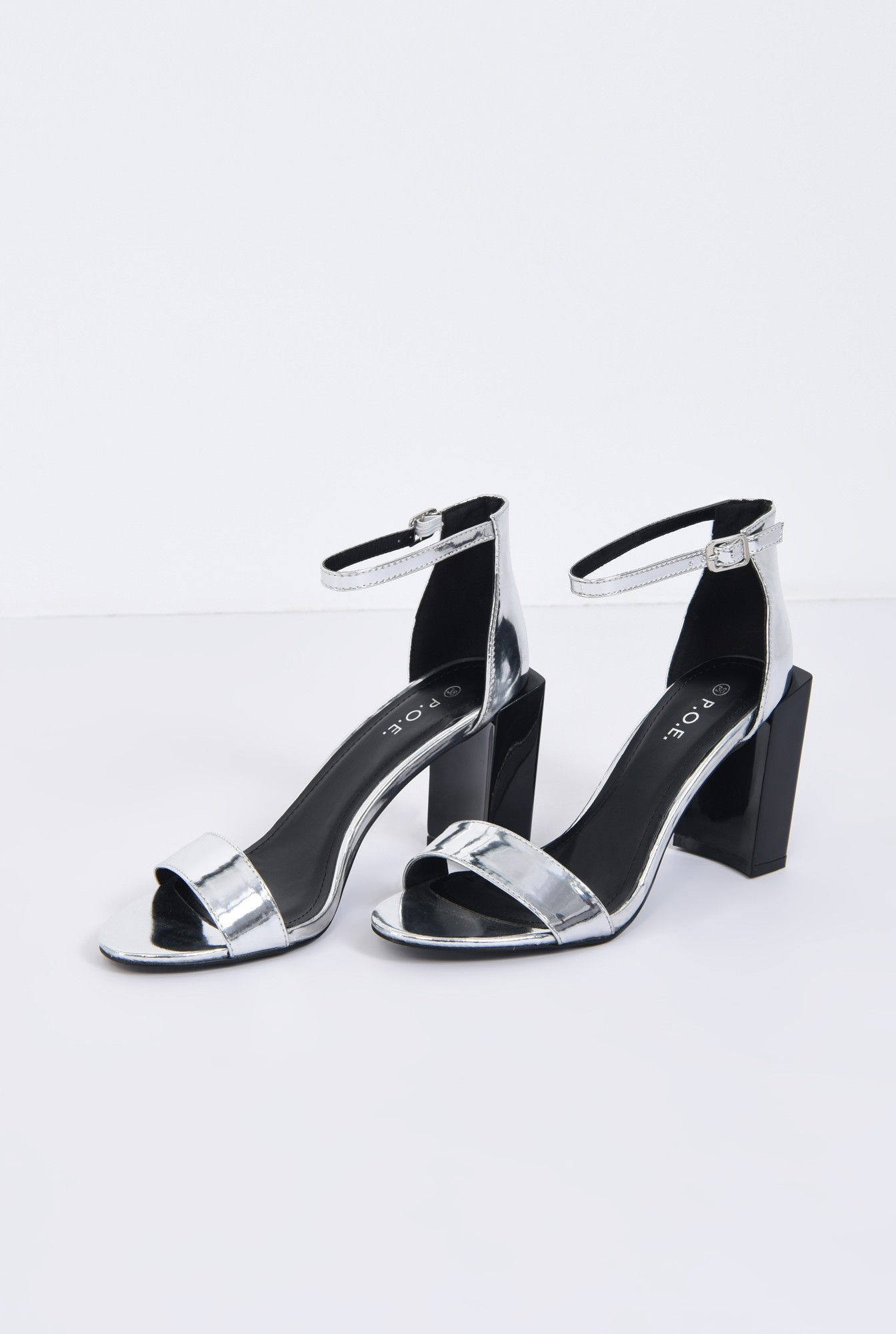 3 - sandale de zi, toc geometric, barete
