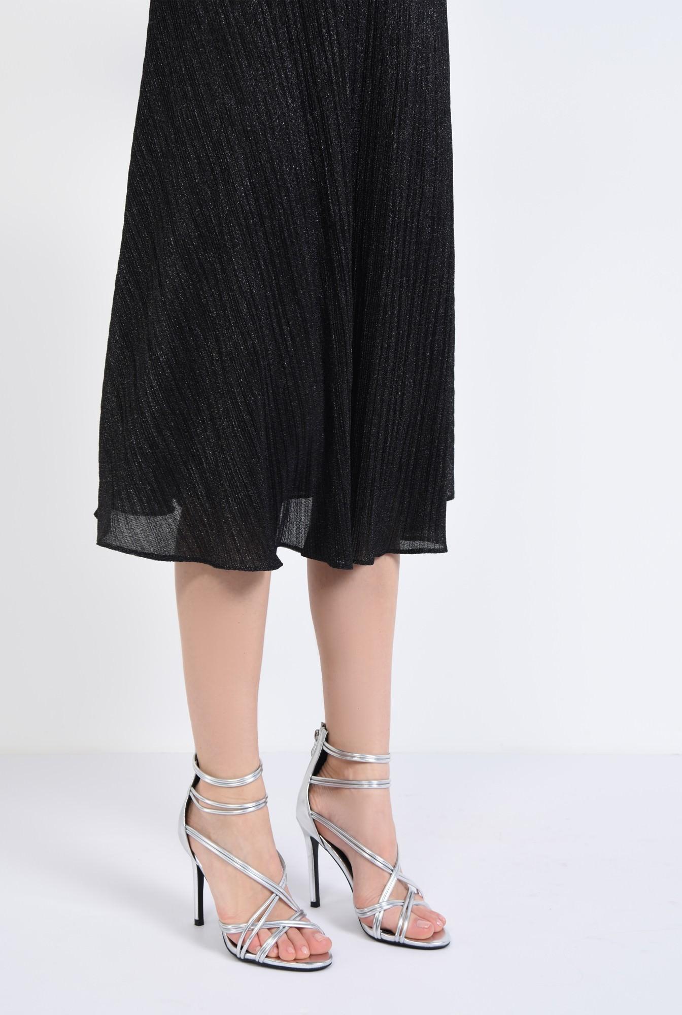 4 - sandale elegante, argintii, stiletto