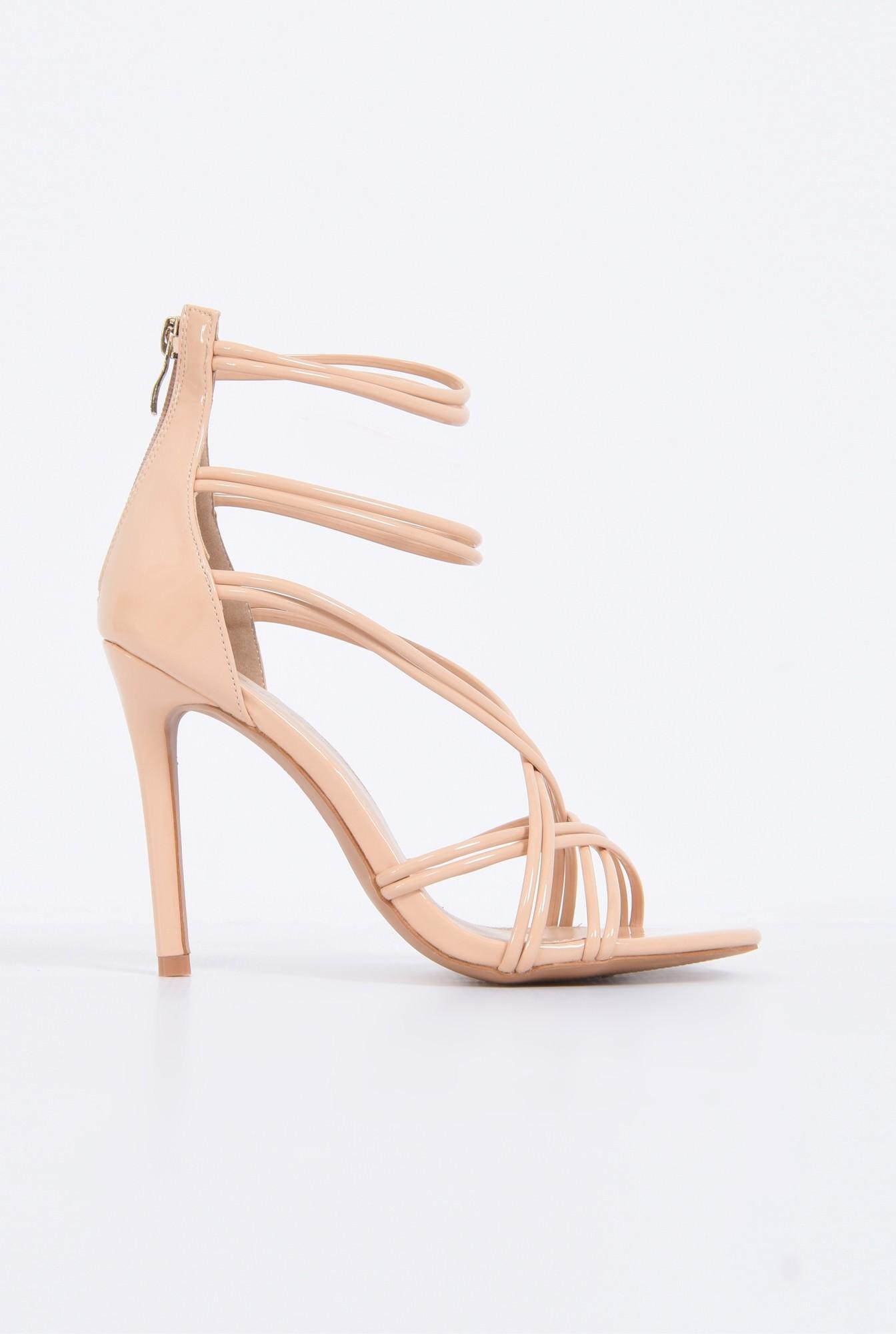 0 - sandale de ocazie, toc subtire, barete incrucisate