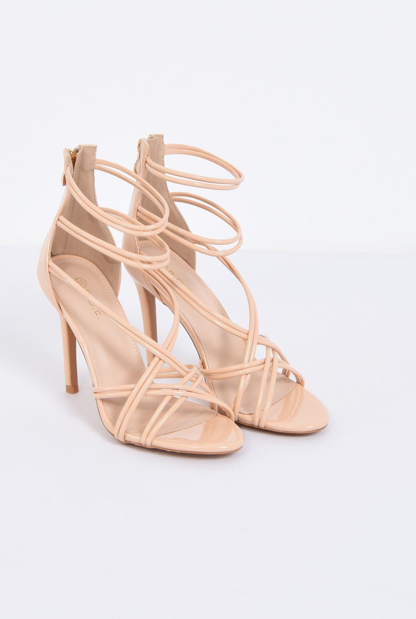 1 - sandale de ocazie, toc subtire, barete incrucisate