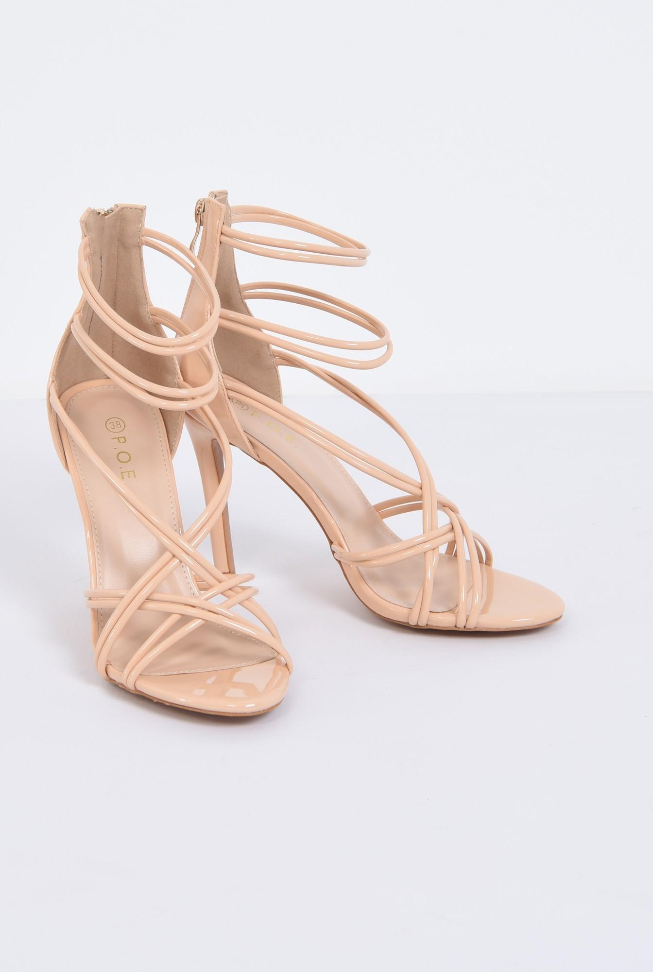 3 - sandale de ocazie, toc subtire, barete incrucisate