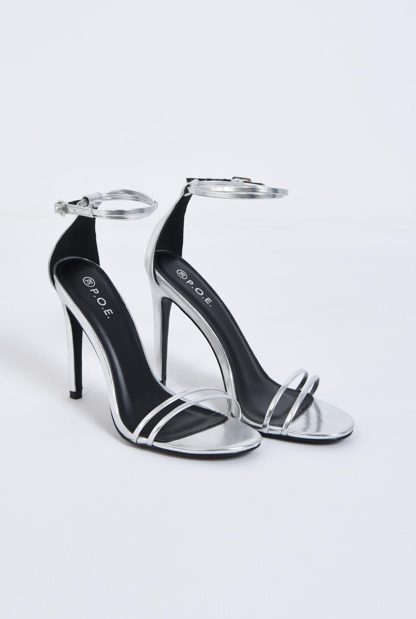 2 - Sandale elegante, argintiu