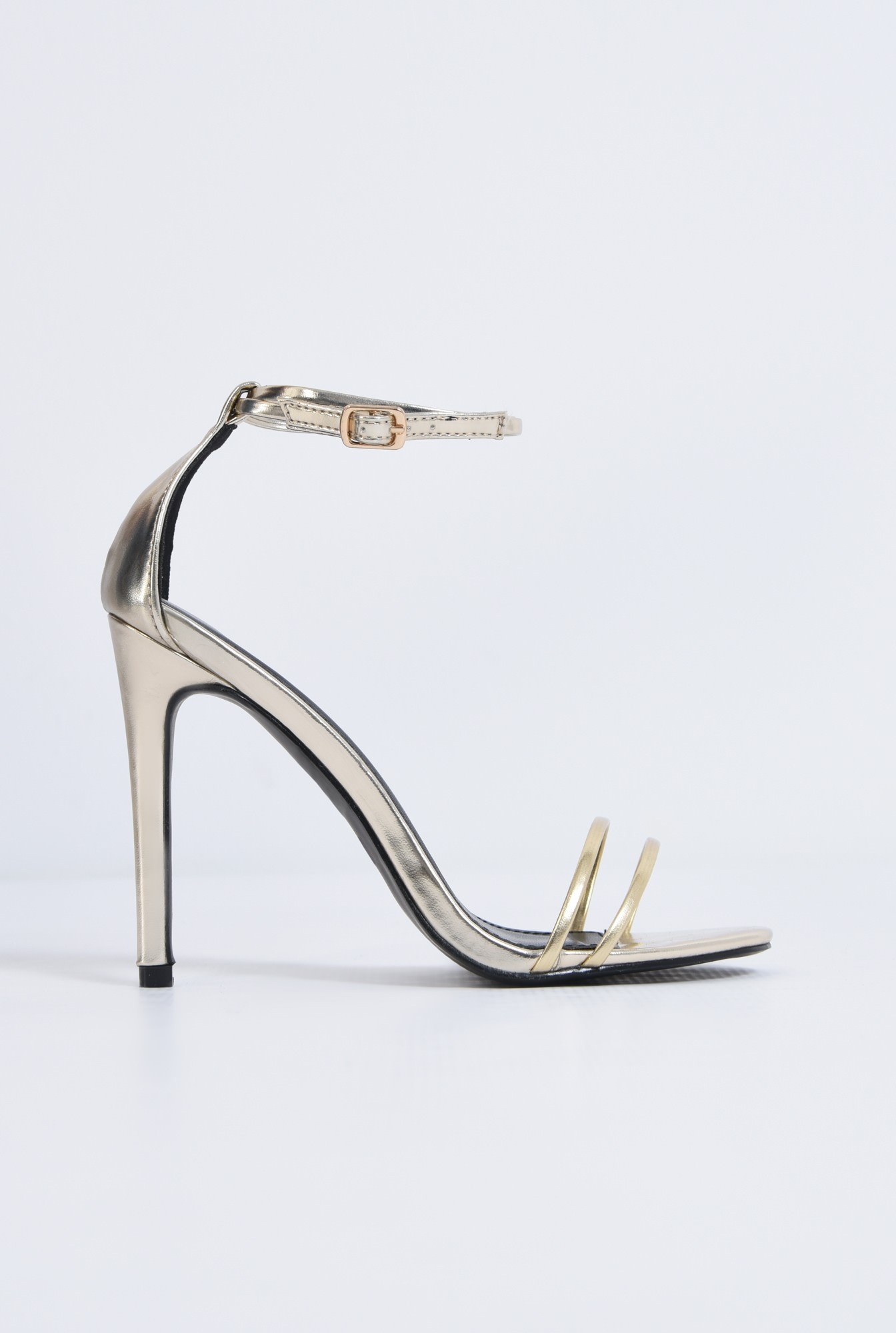 0 - sandale elegante, aurii, stiletto