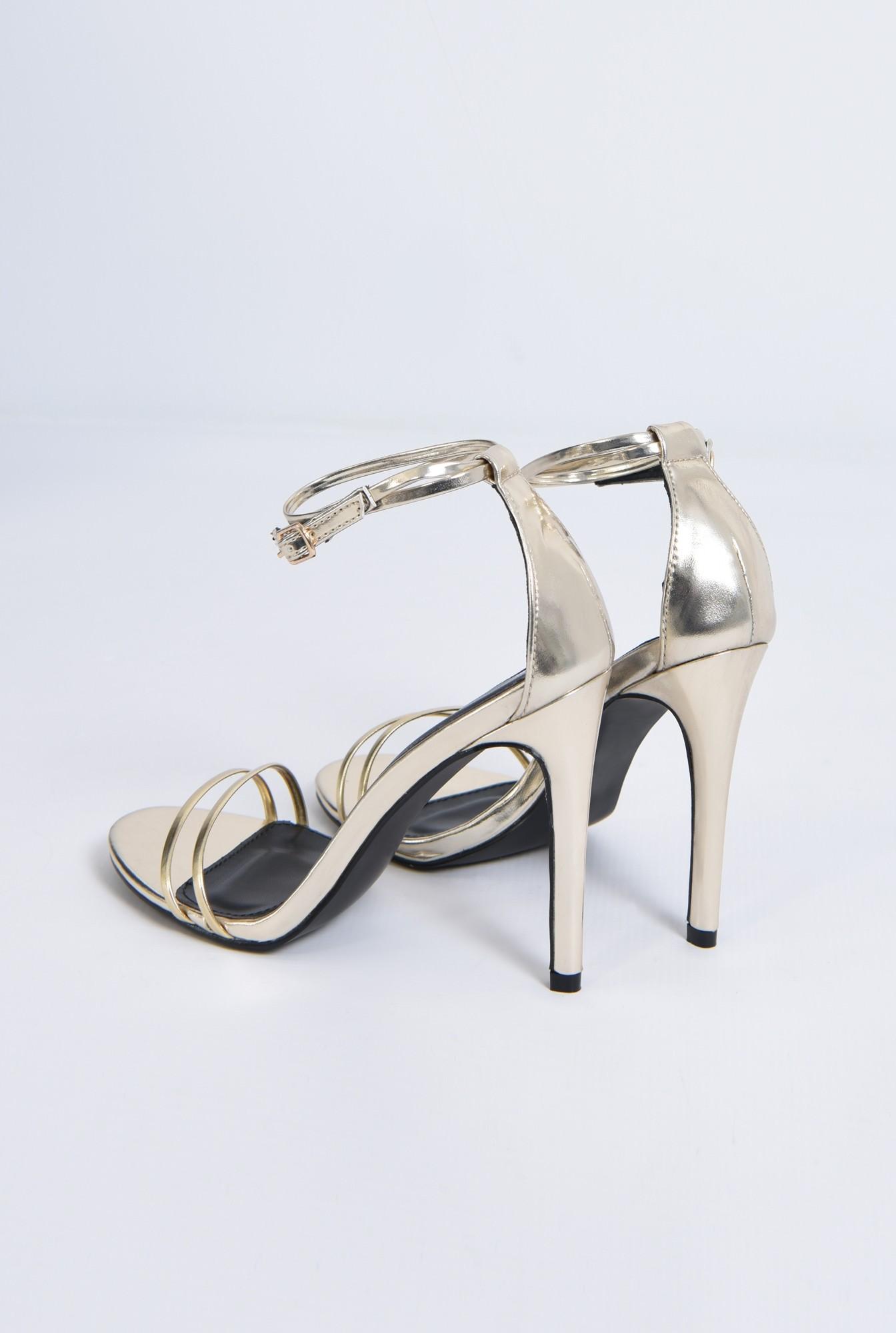 4 - sandale elegante, aurii, stiletto