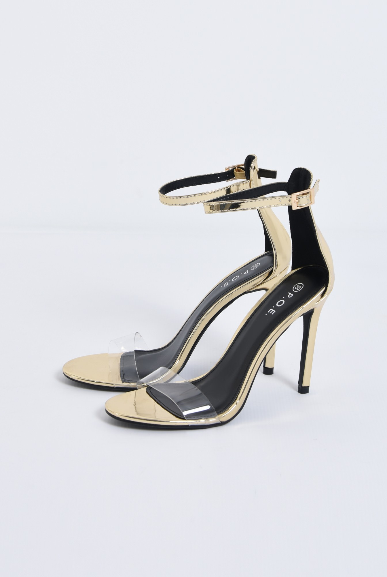 4 - sandale de seara, toc inalt, barete subtiri