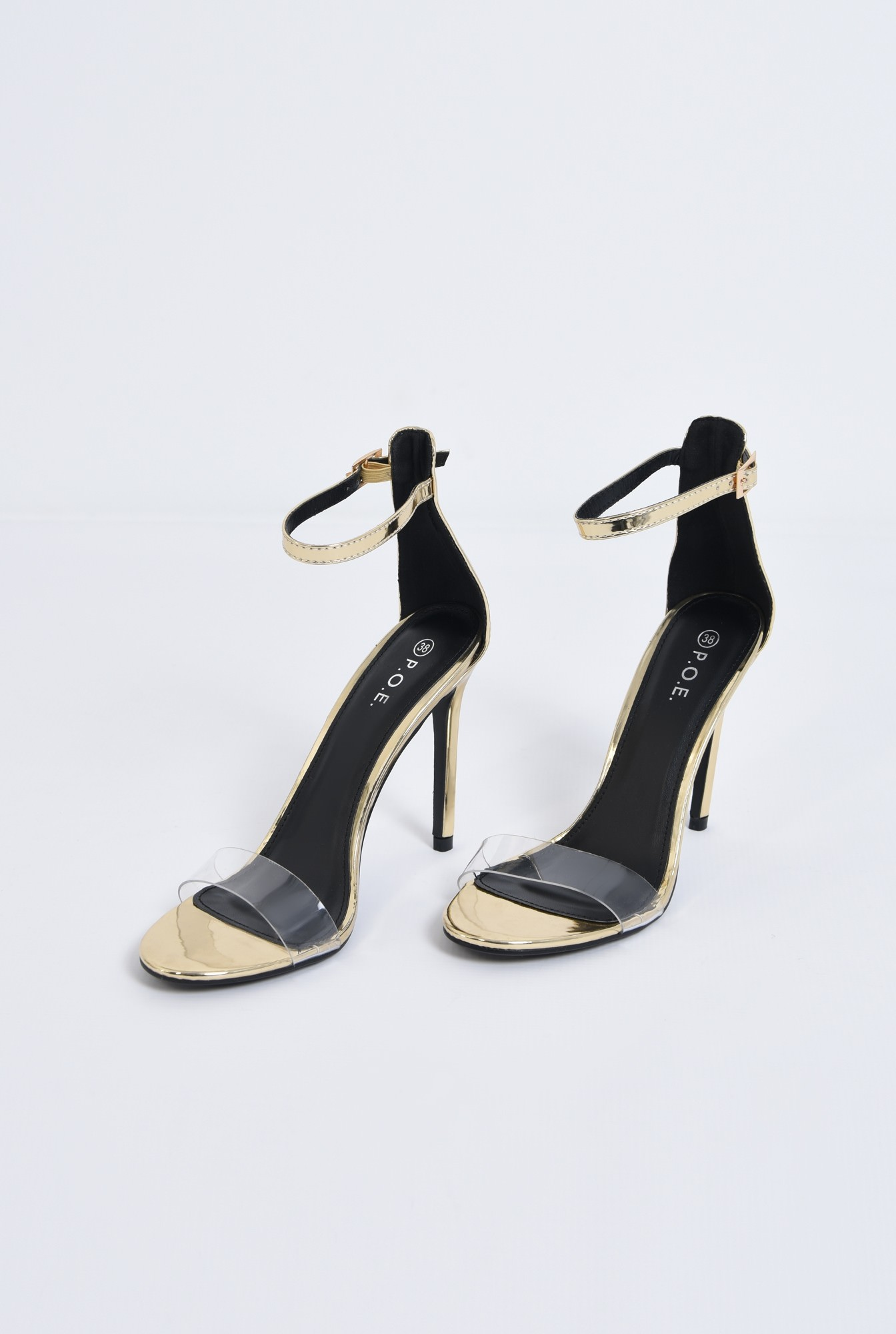 3 - sandale de seara, toc inalt, barete subtiri