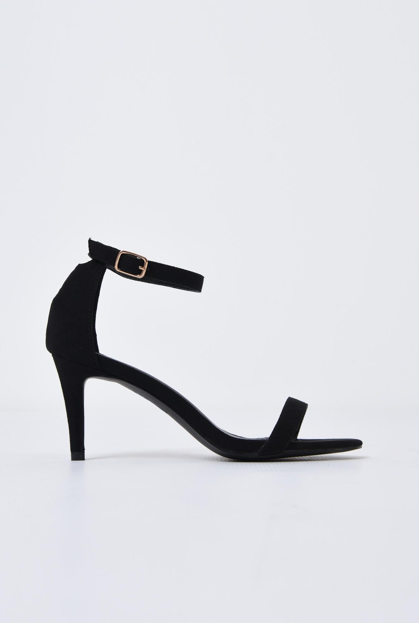 0 - sandale elegante, din catifea, cu toc stiletto
