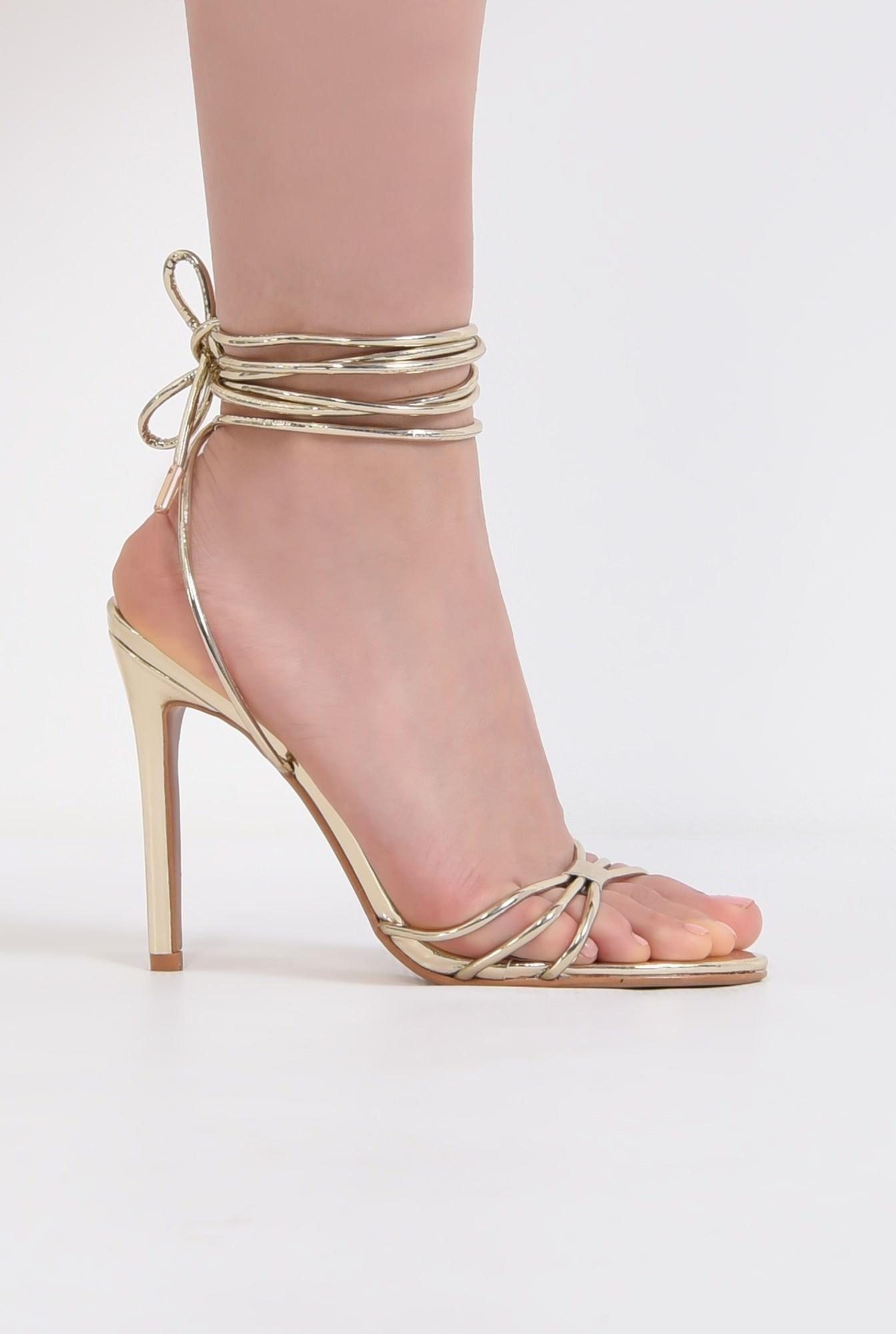 0 - sandale aurii, de ocazie, barete, snur, stiletto