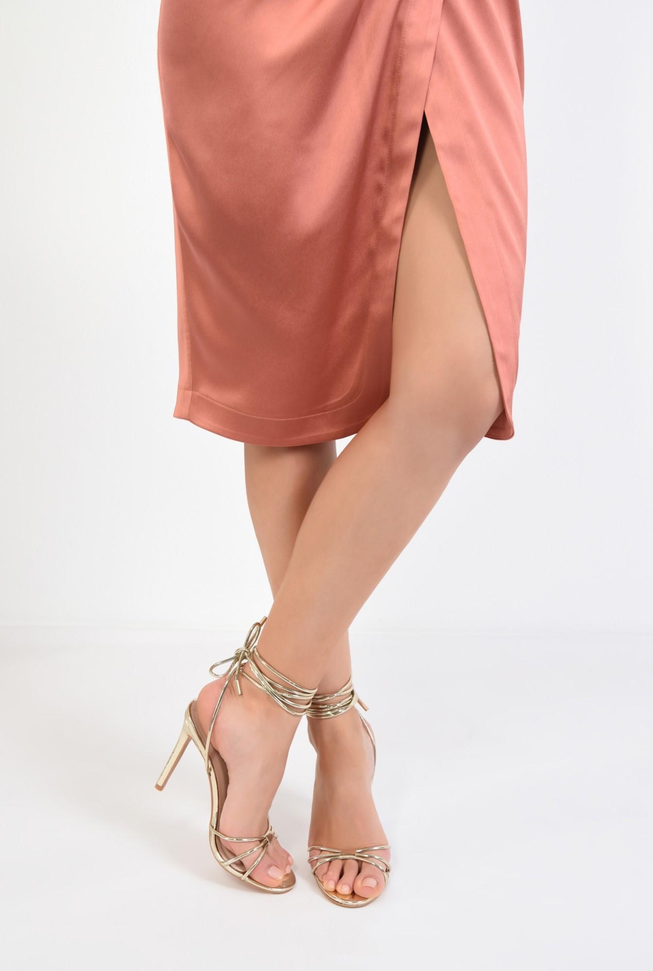 4 - sandale aurii, de ocazie, barete, snur, stiletto