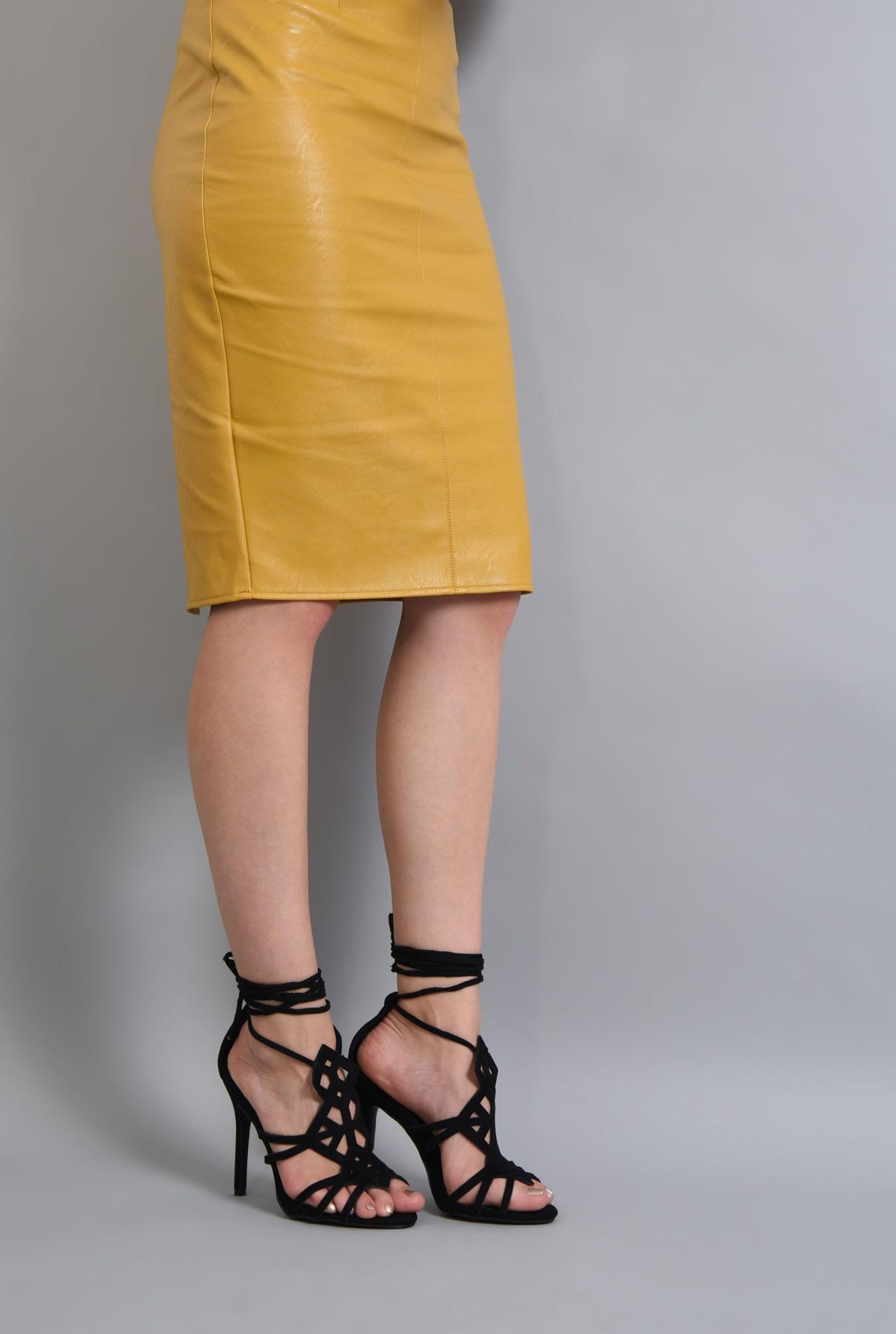 4 - sandale elegante, negru, stiletto