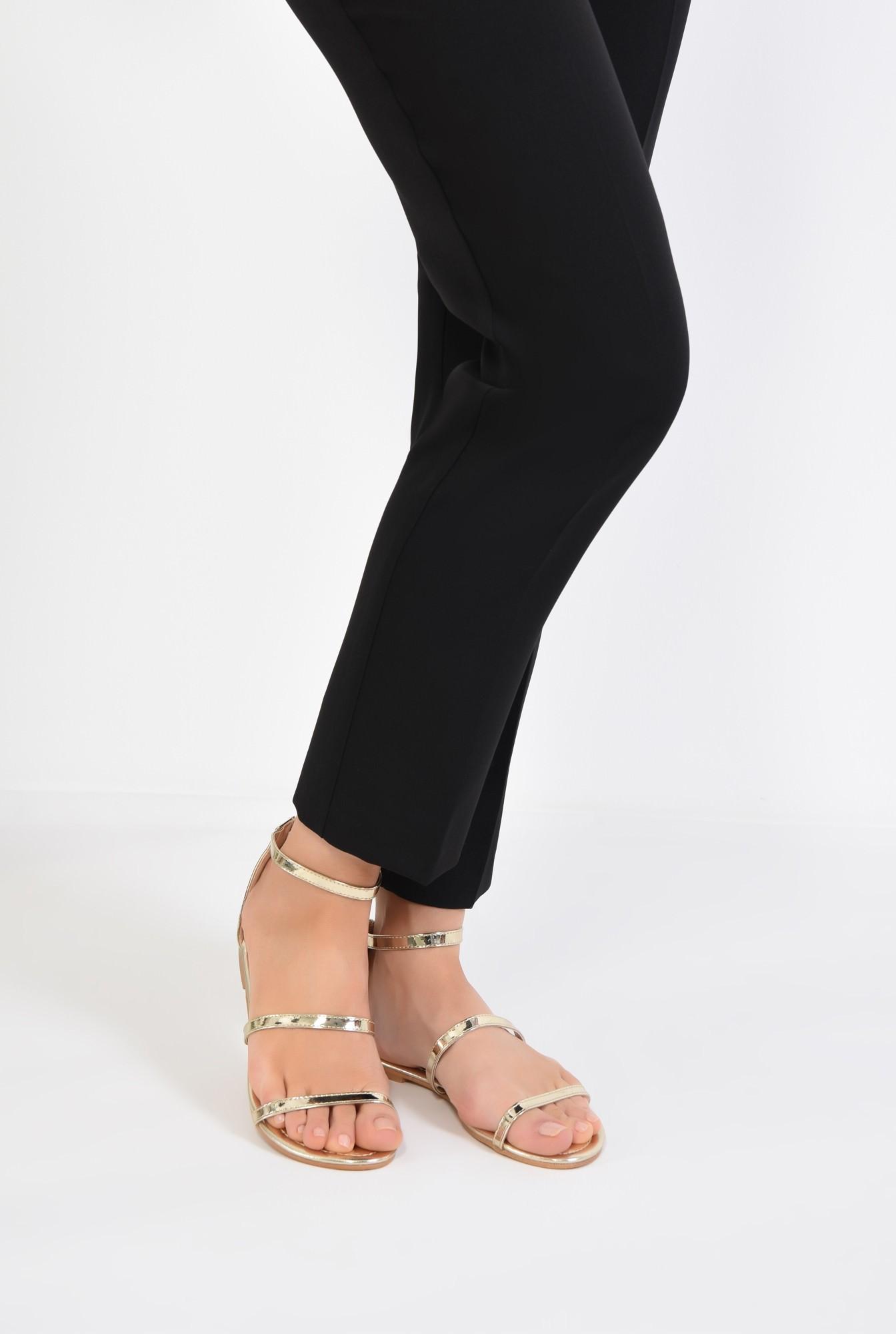 4 - sandale casual, aurii, cu barete subtiri