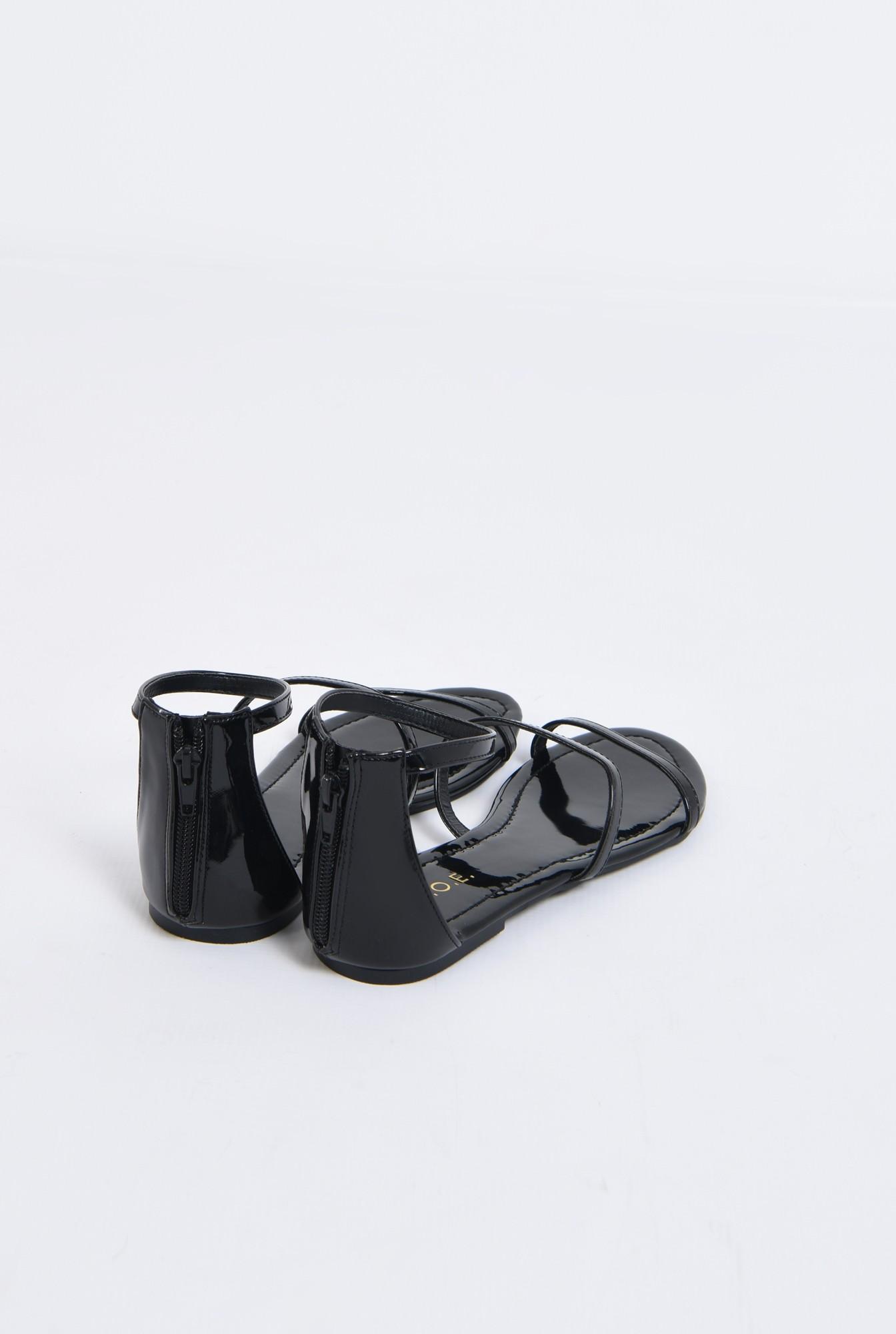 2 - sandale casual, cu talpa joasa, barete subtiri