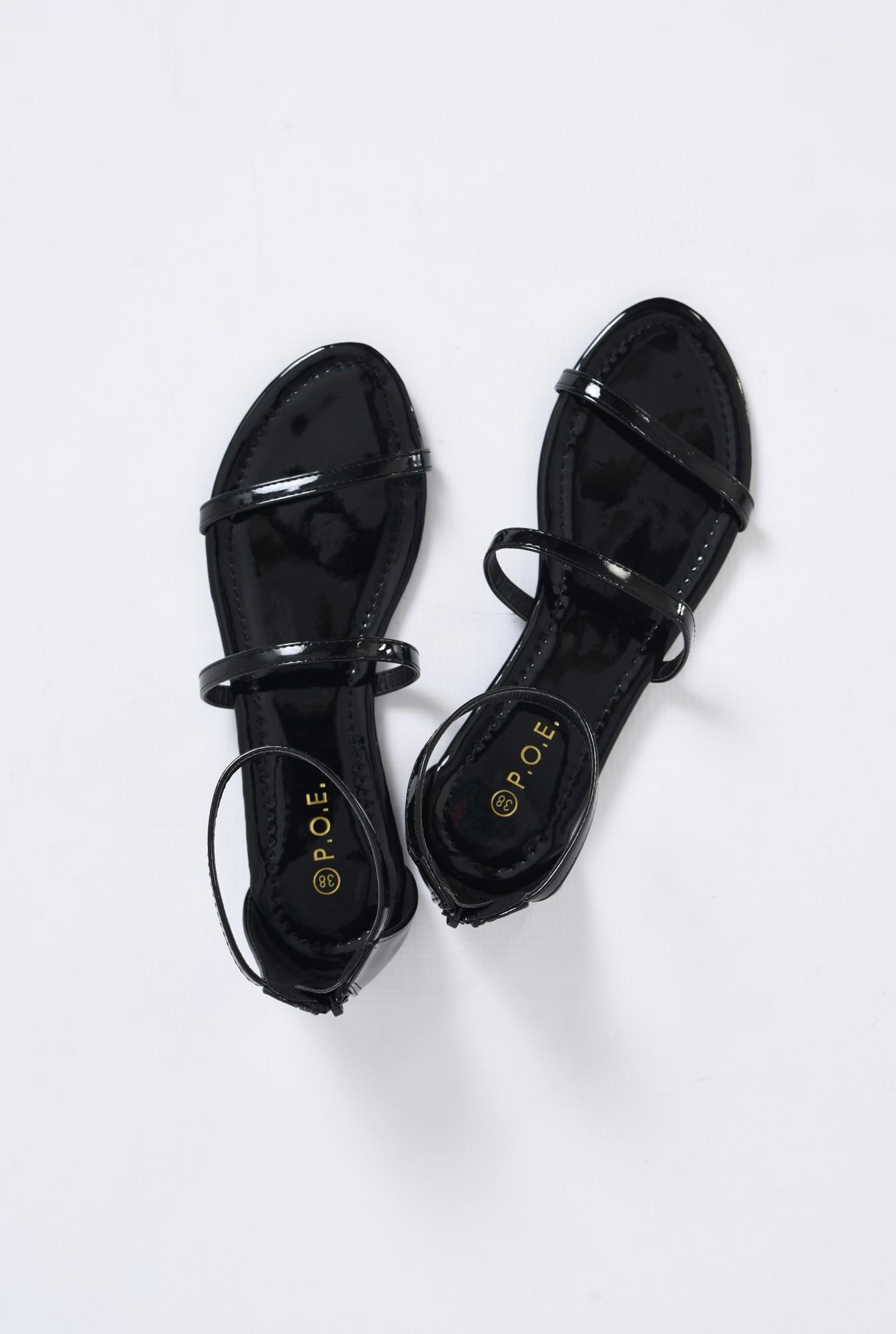 3 - sandale casual, cu talpa joasa, barete subtiri