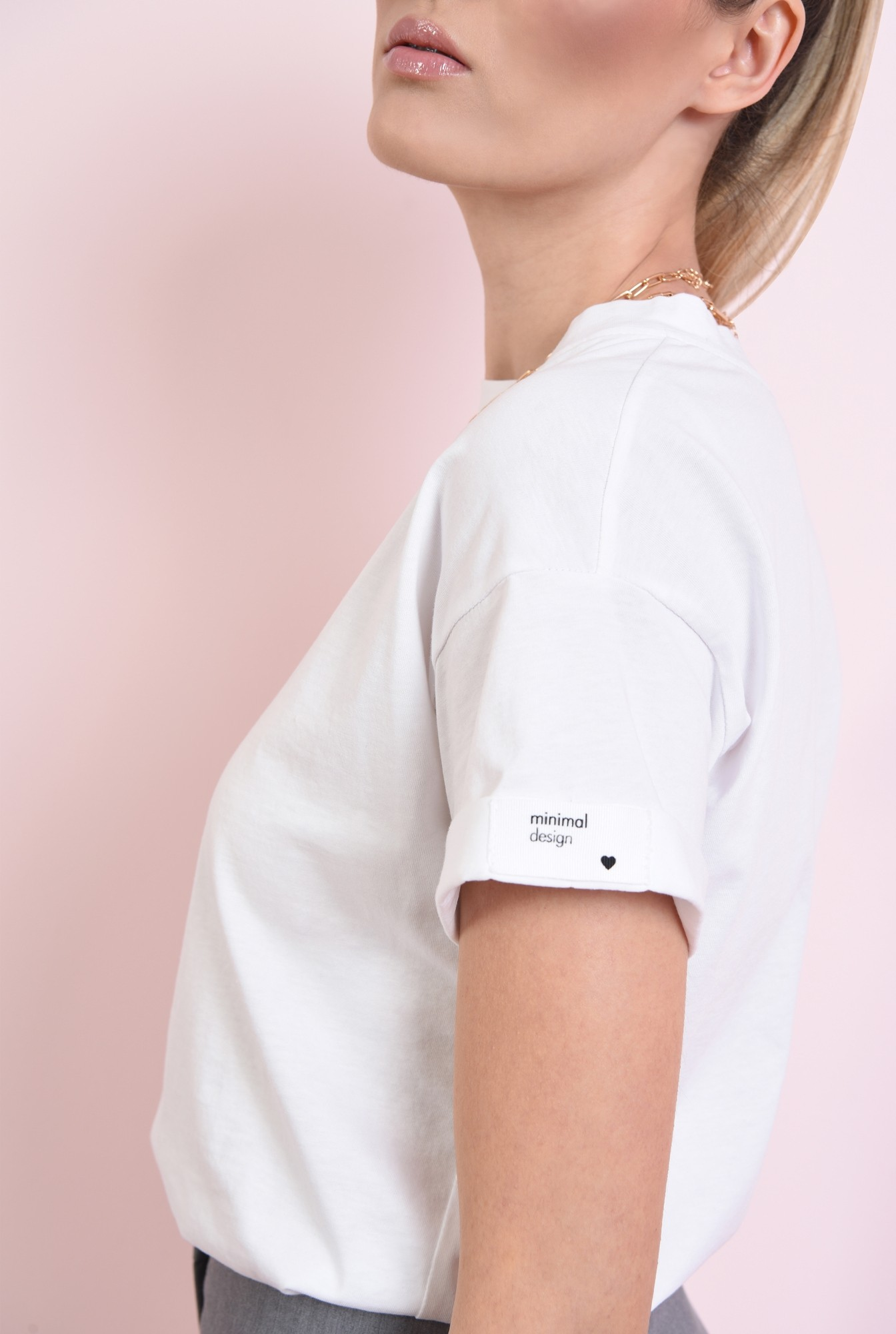 2 - tricou din bumbac, cu decolteu rotund