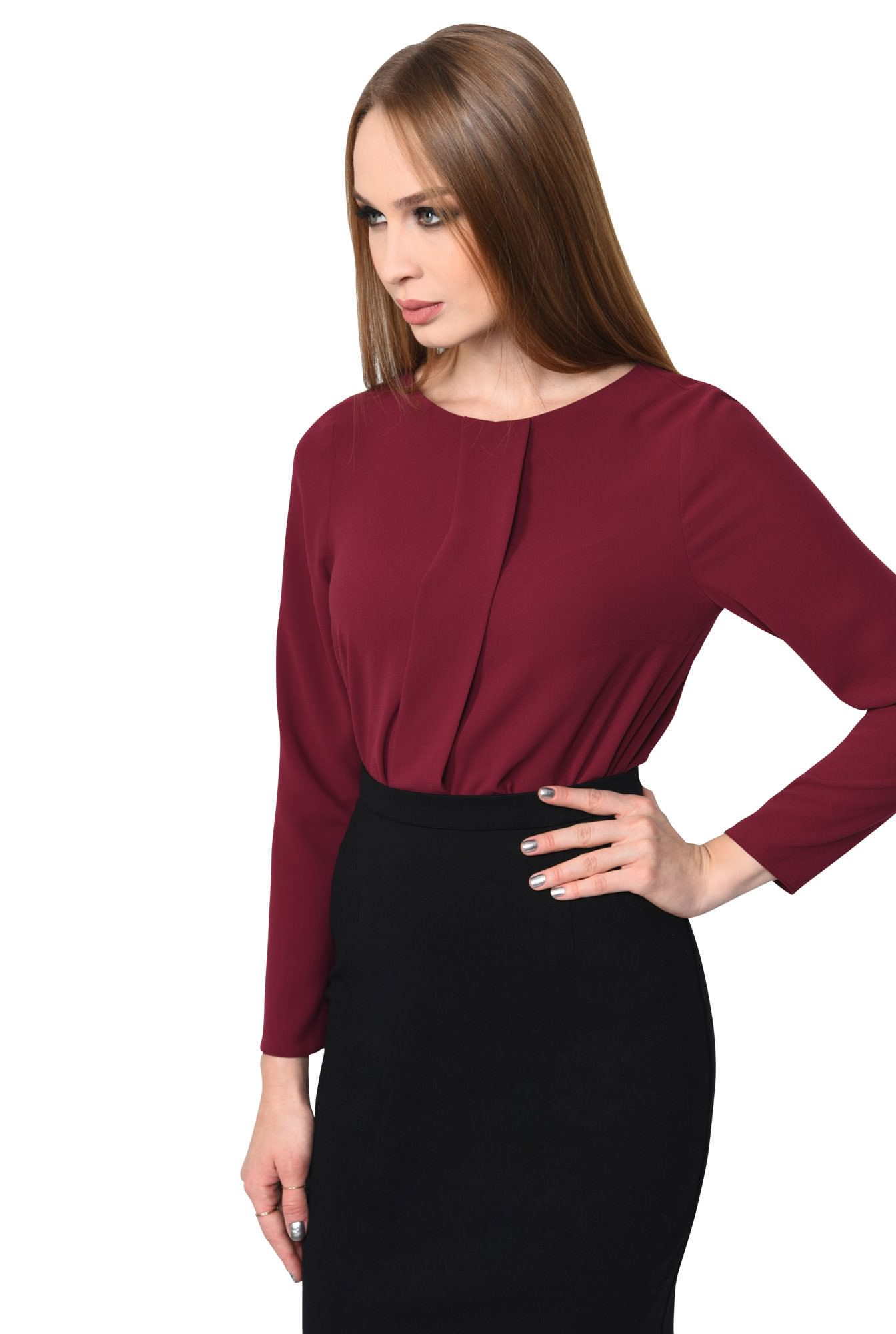 BLUZA OFFICE DREAPTA BL 162-BURGUNDY
