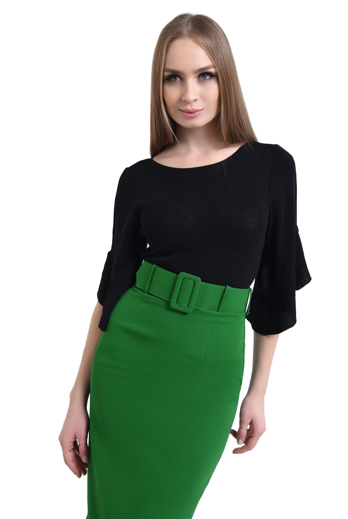 Bluza casual, negru, tricot