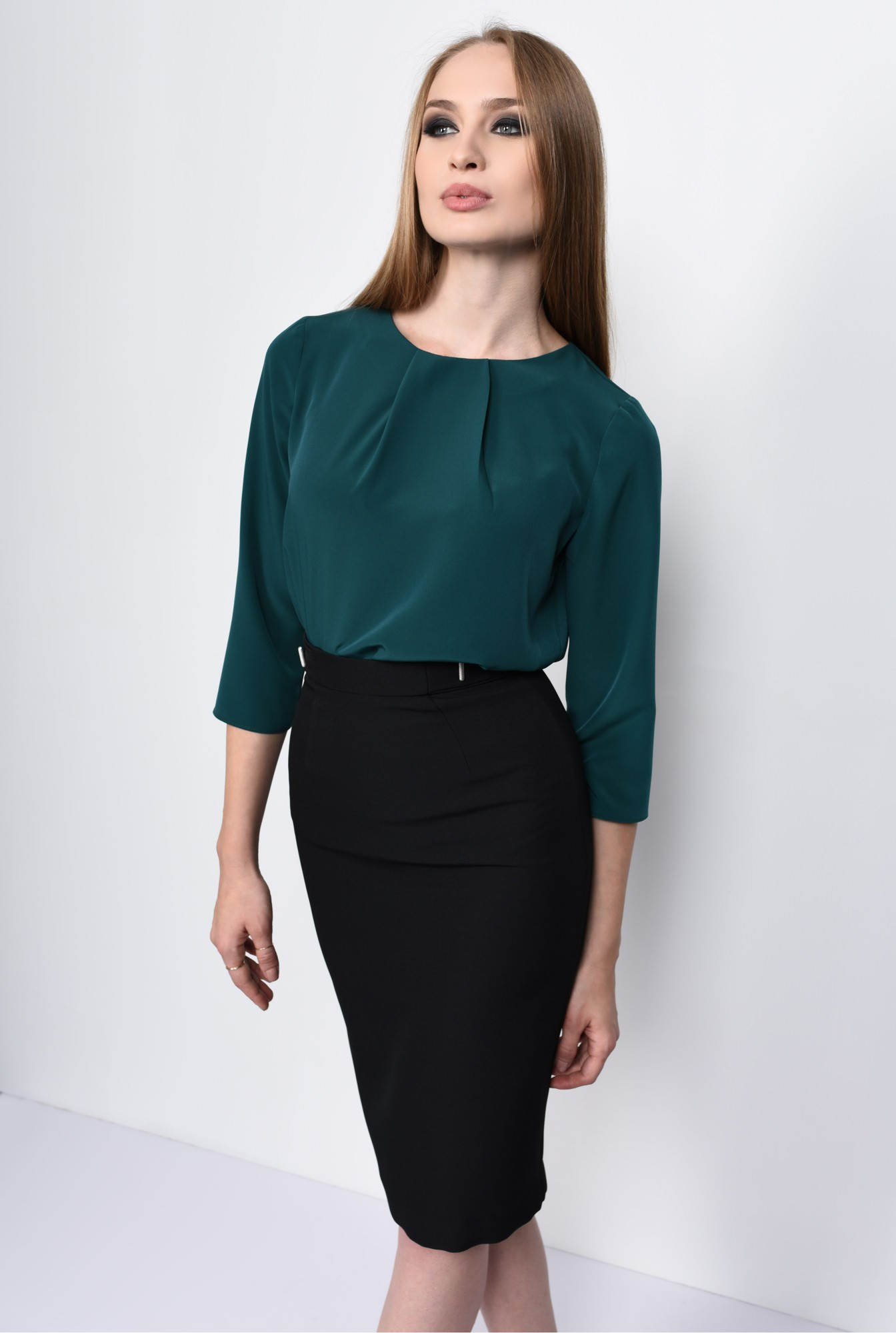 BLUZA OFFICE BL 151-VERDE