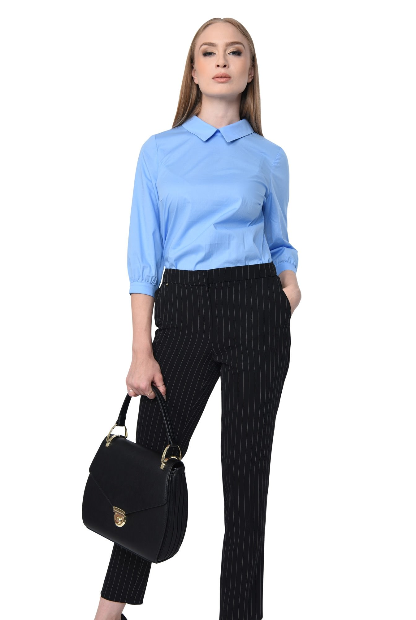 BLUZA OFFICE BL 268-BLEU