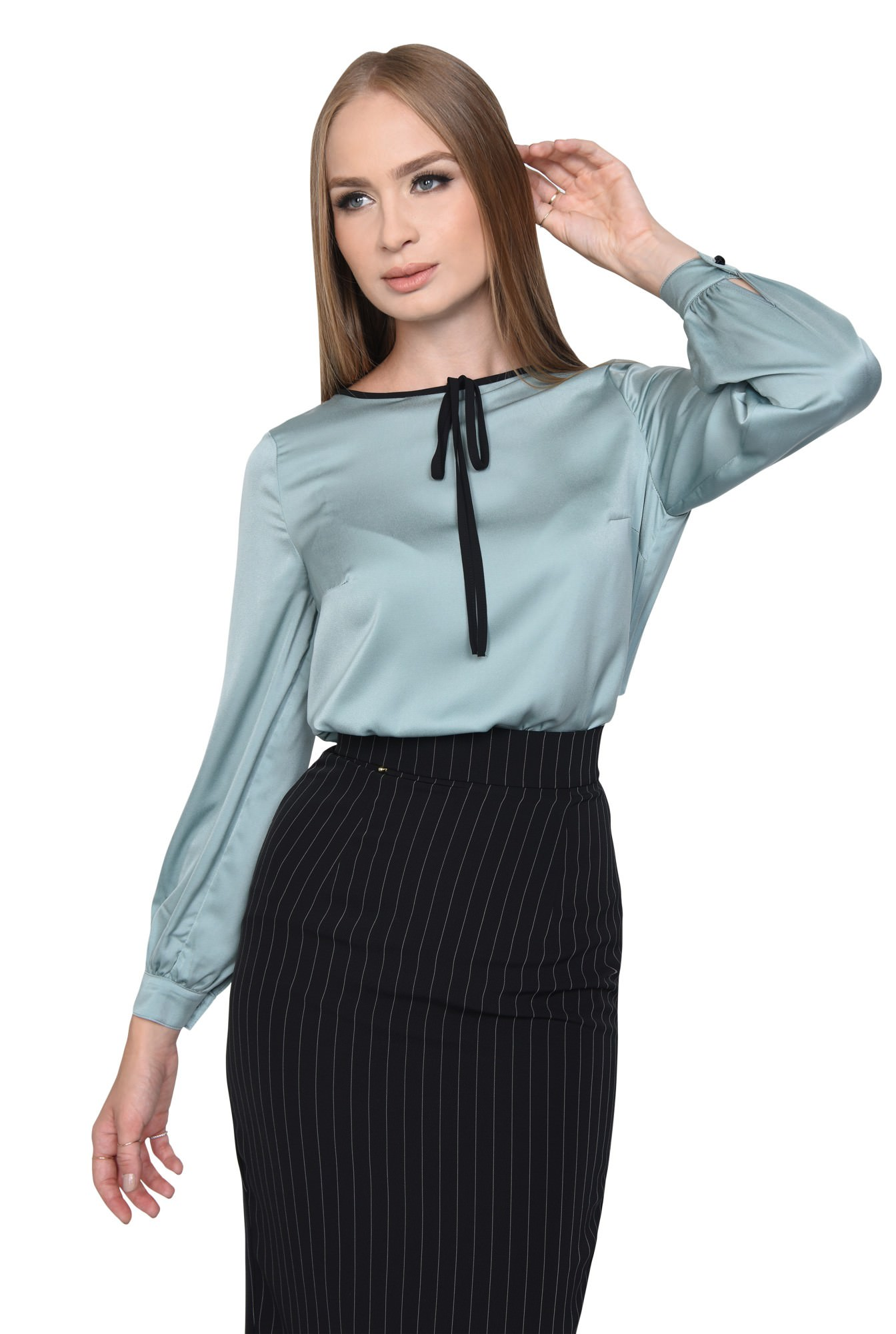 BLUZA OFFICE BL 275-BLEU