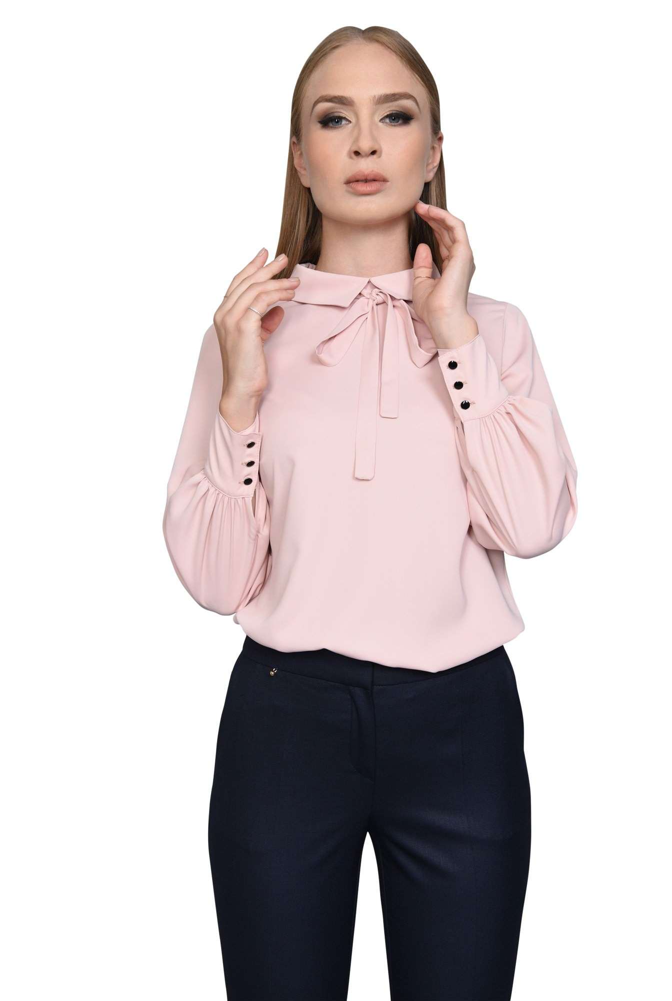 BLUZA OFFICE BL 280-ROZ