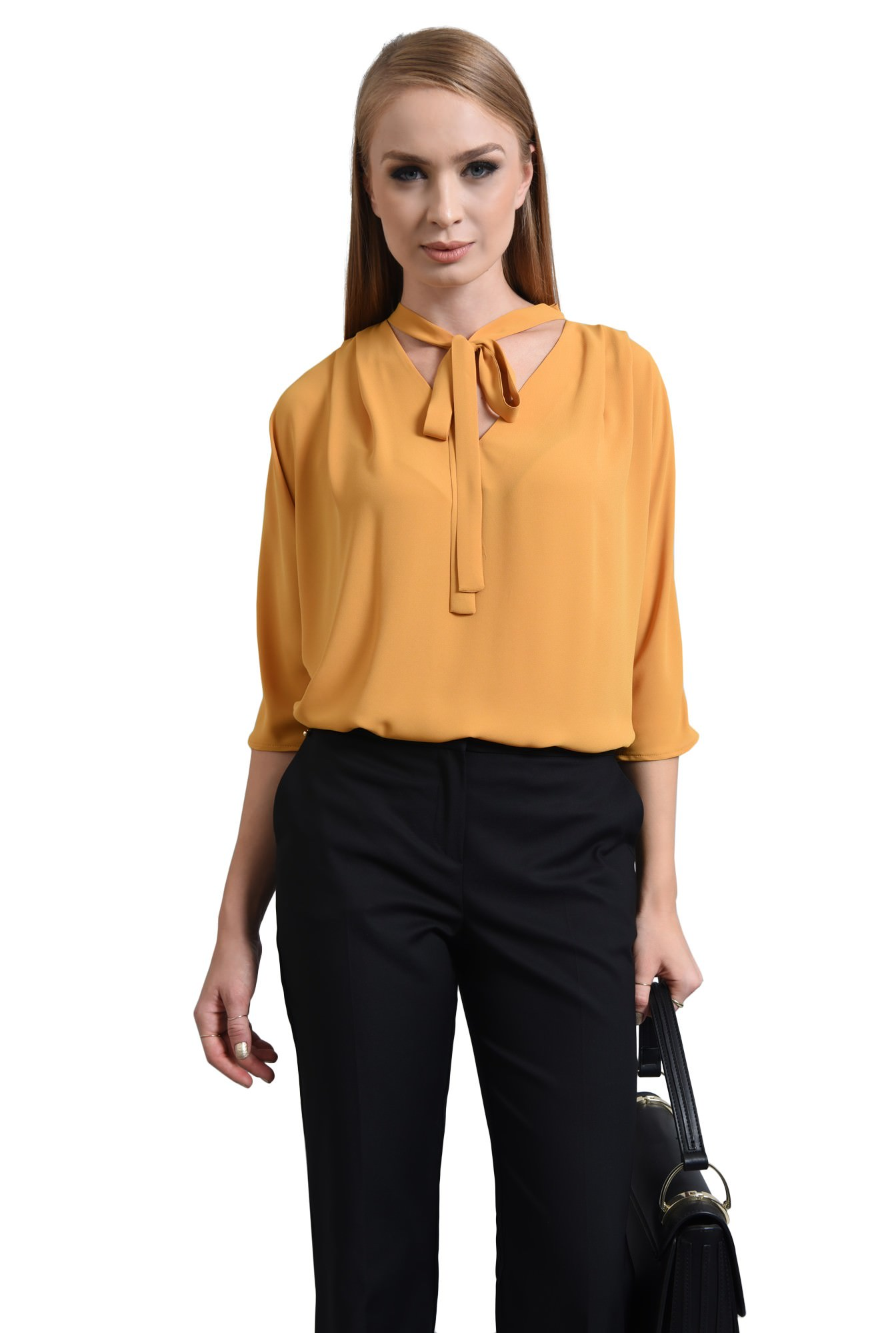 BLUZA OFFICE BL 291-MUSTAR