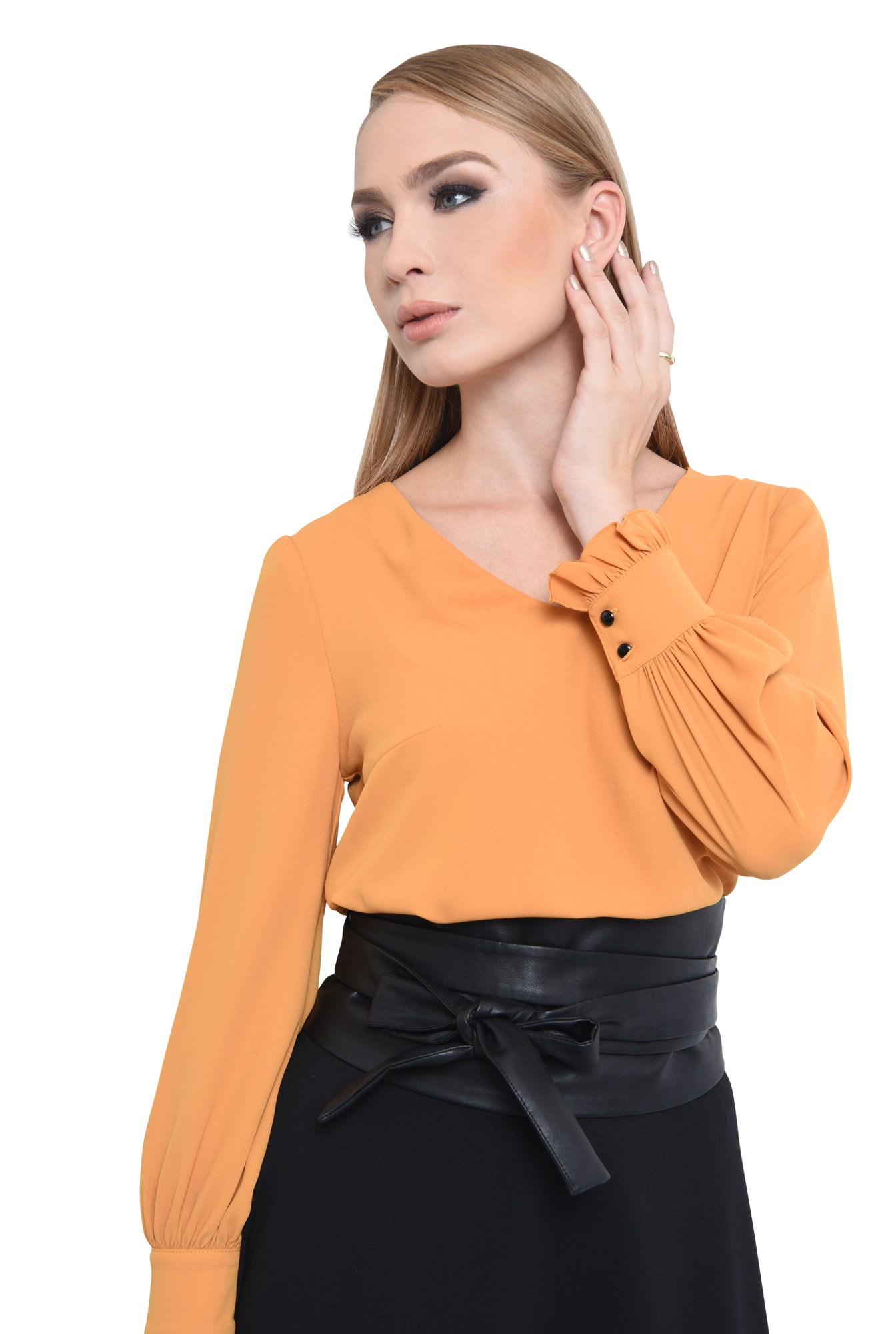 BLUZA OFFICE BL 292-MUSTAR