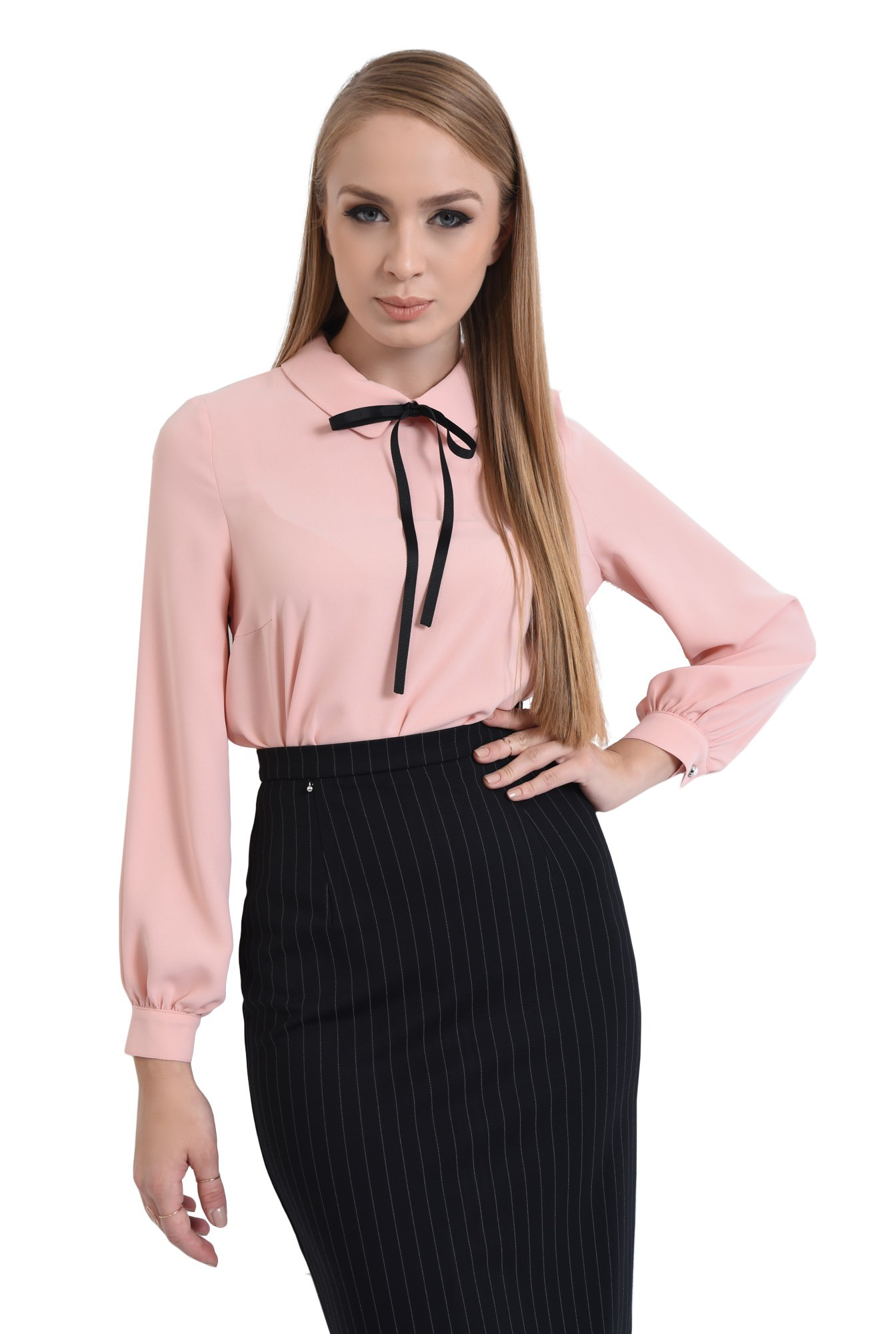 BLUZA OFFICE BL 301-ROZ