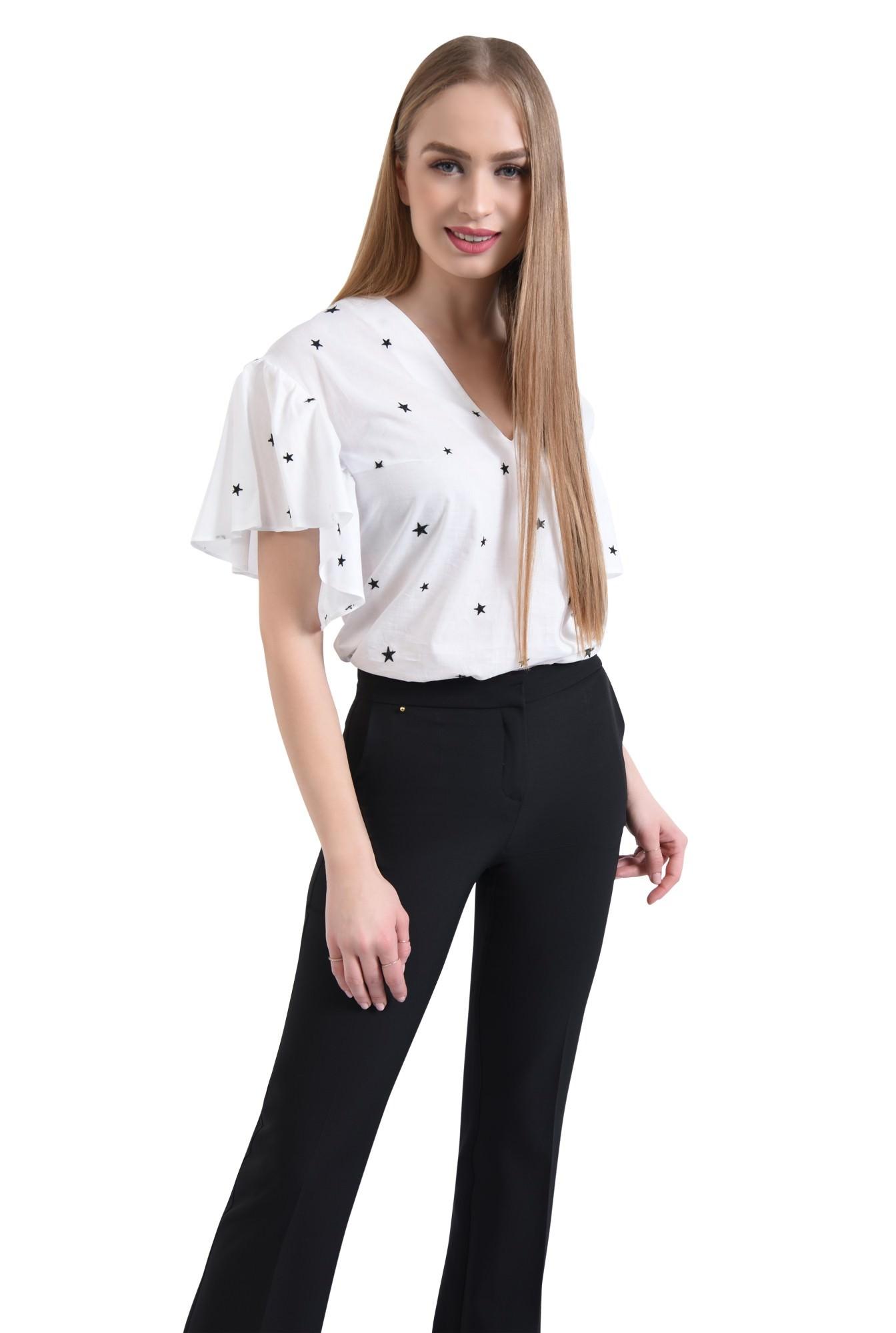 Bluza casual, alb, anchior