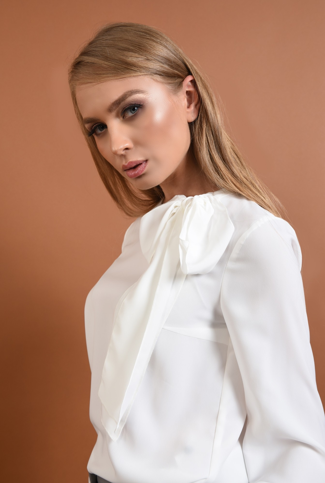 Bluza casual, alb