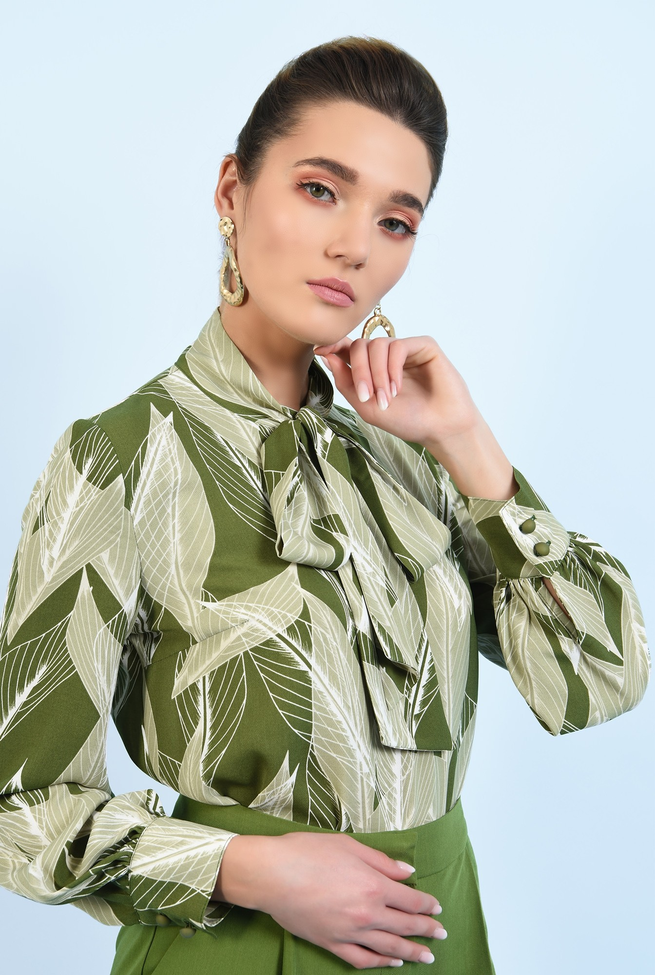 bluza casual, cu imprimeu, maneci lungi, bluza de primavara