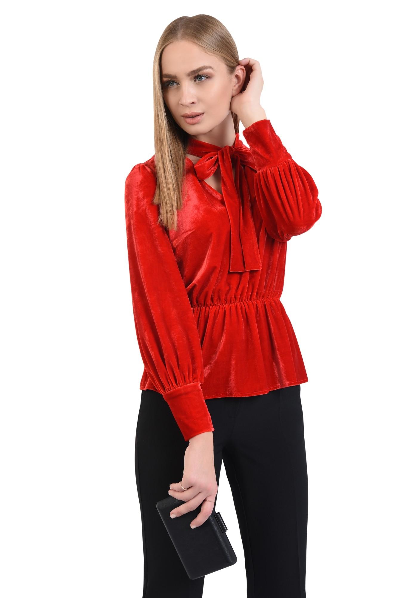 bluza din catifea, rosie, eleganta, bluza dama, online