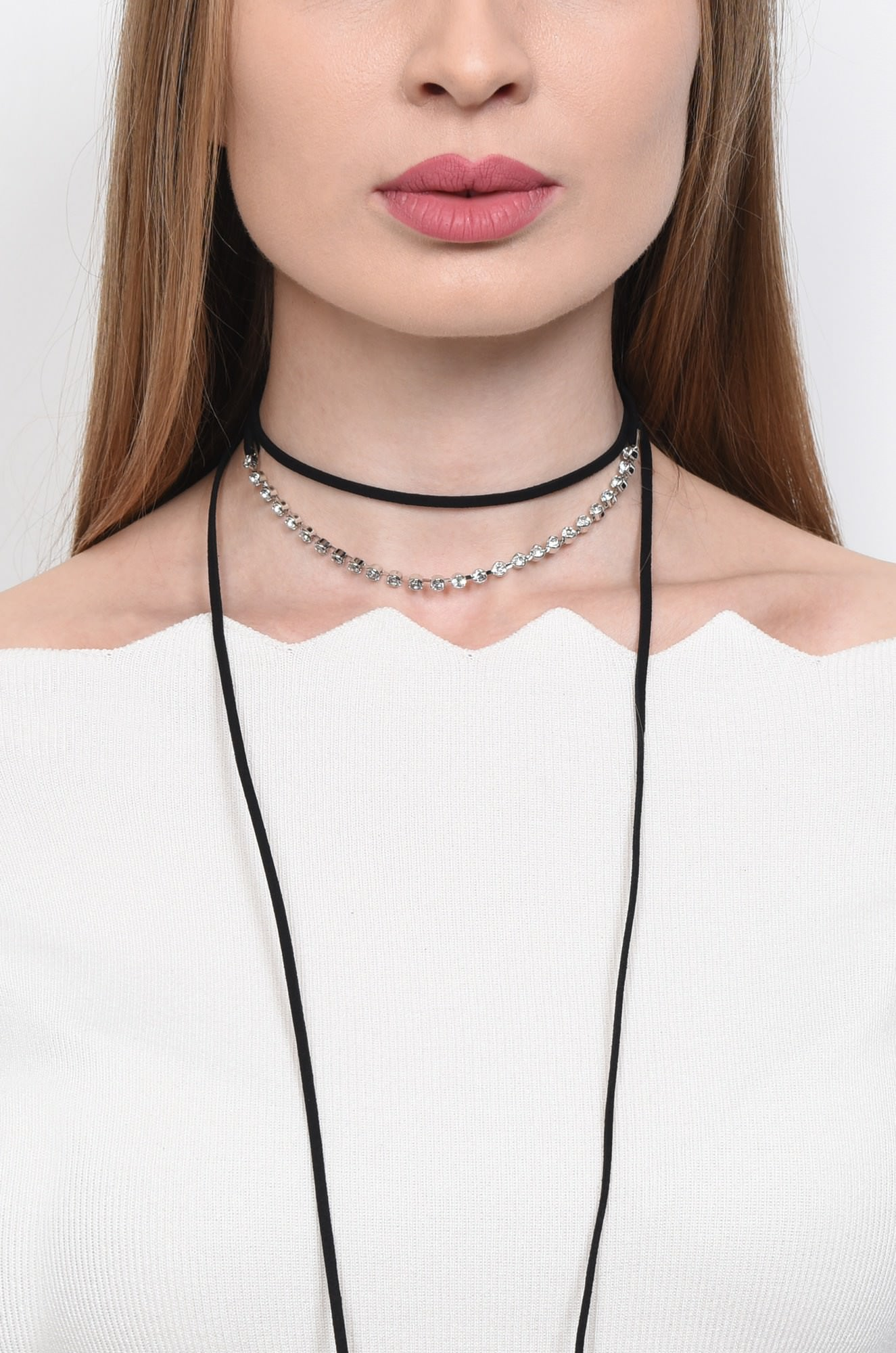 COLIER TIP CHOCKER GB15021735-NEGRU