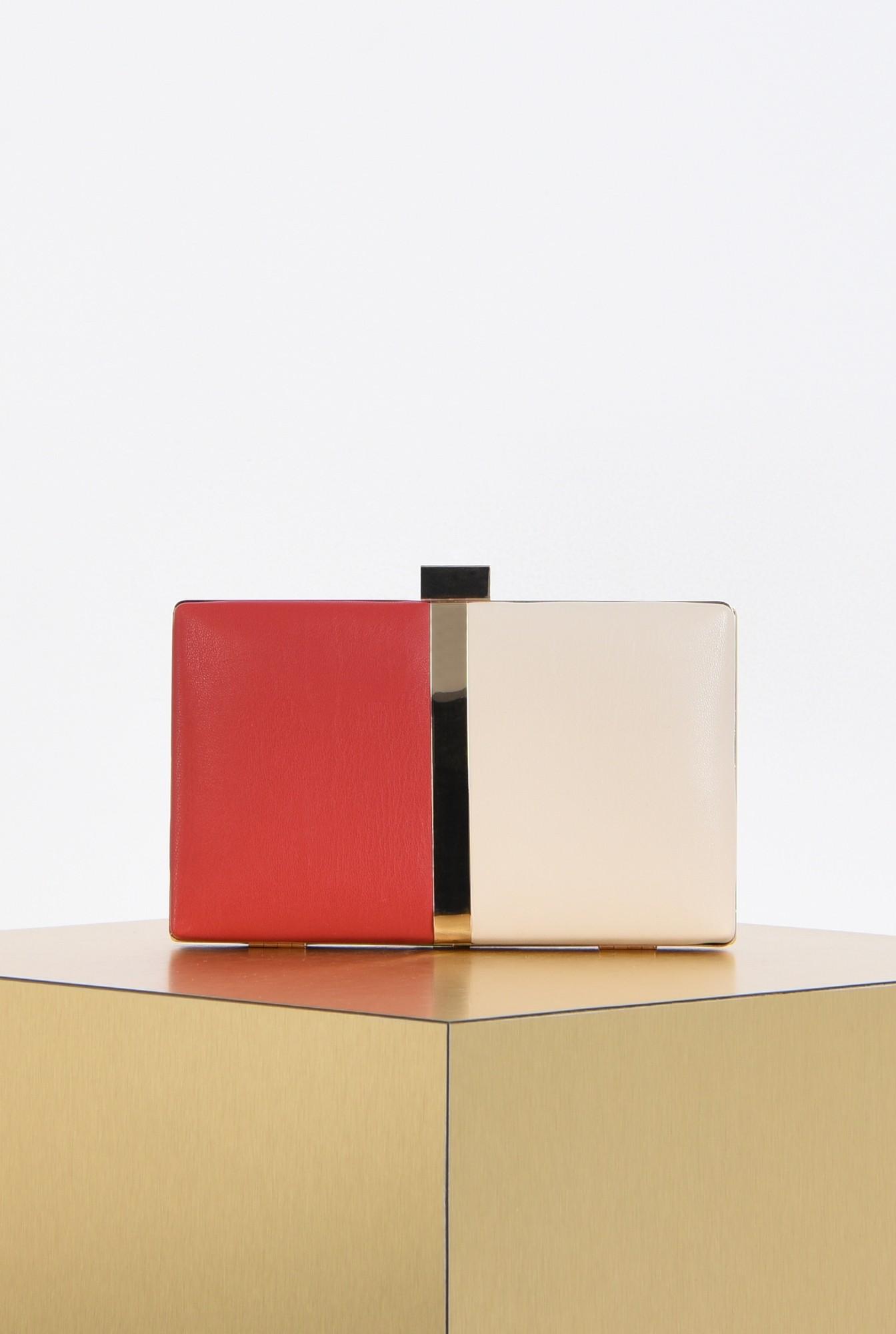 plic elegant, bicolor, alb, rosu, accesorii