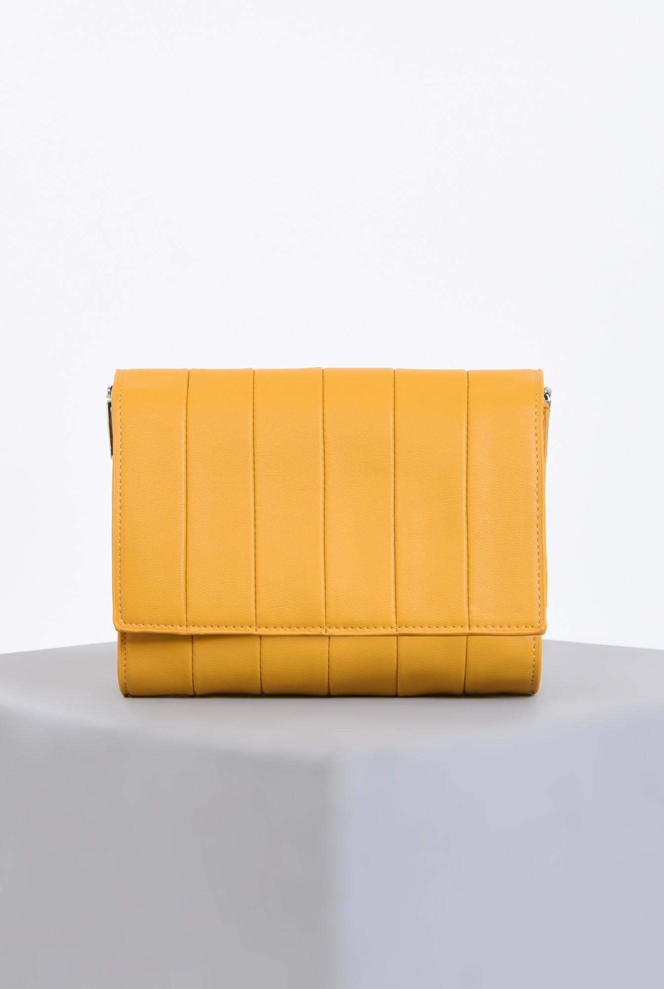 geanta casual, mustar, poseta de zi