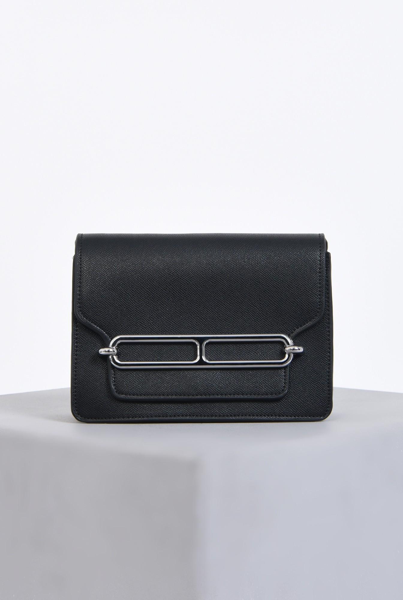 geanta casual, negru, bareta detasabila