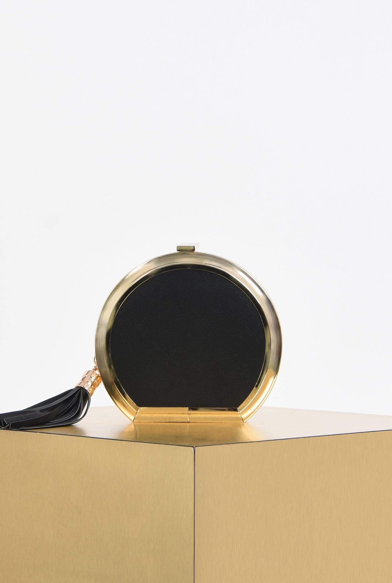 plic elegant, negru, caseta, ciucure, lant auriu
