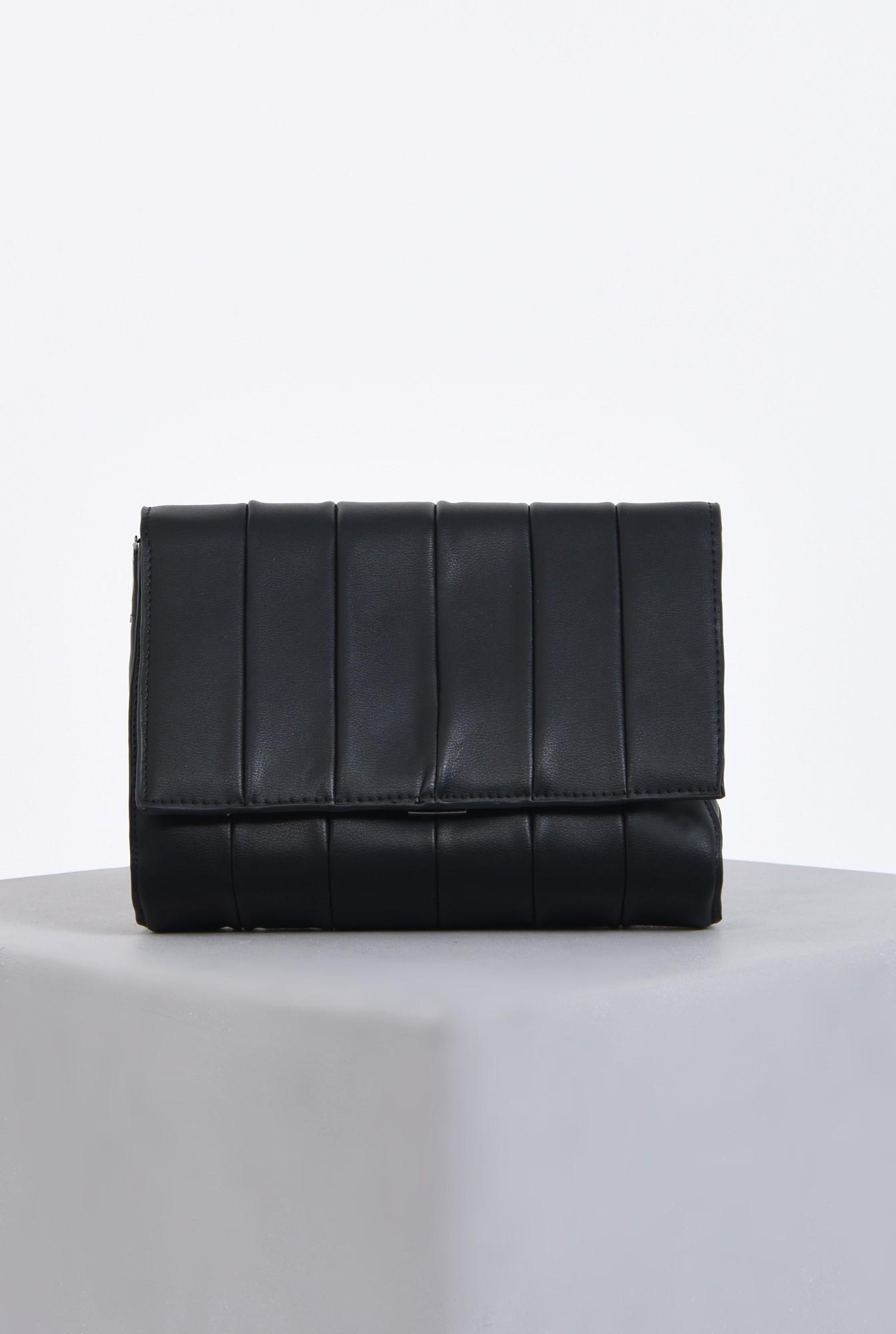 geanta casual, negru, matlasata