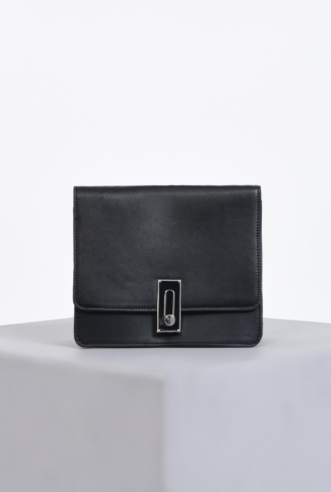 geanta casual, negru, mini, accesorii