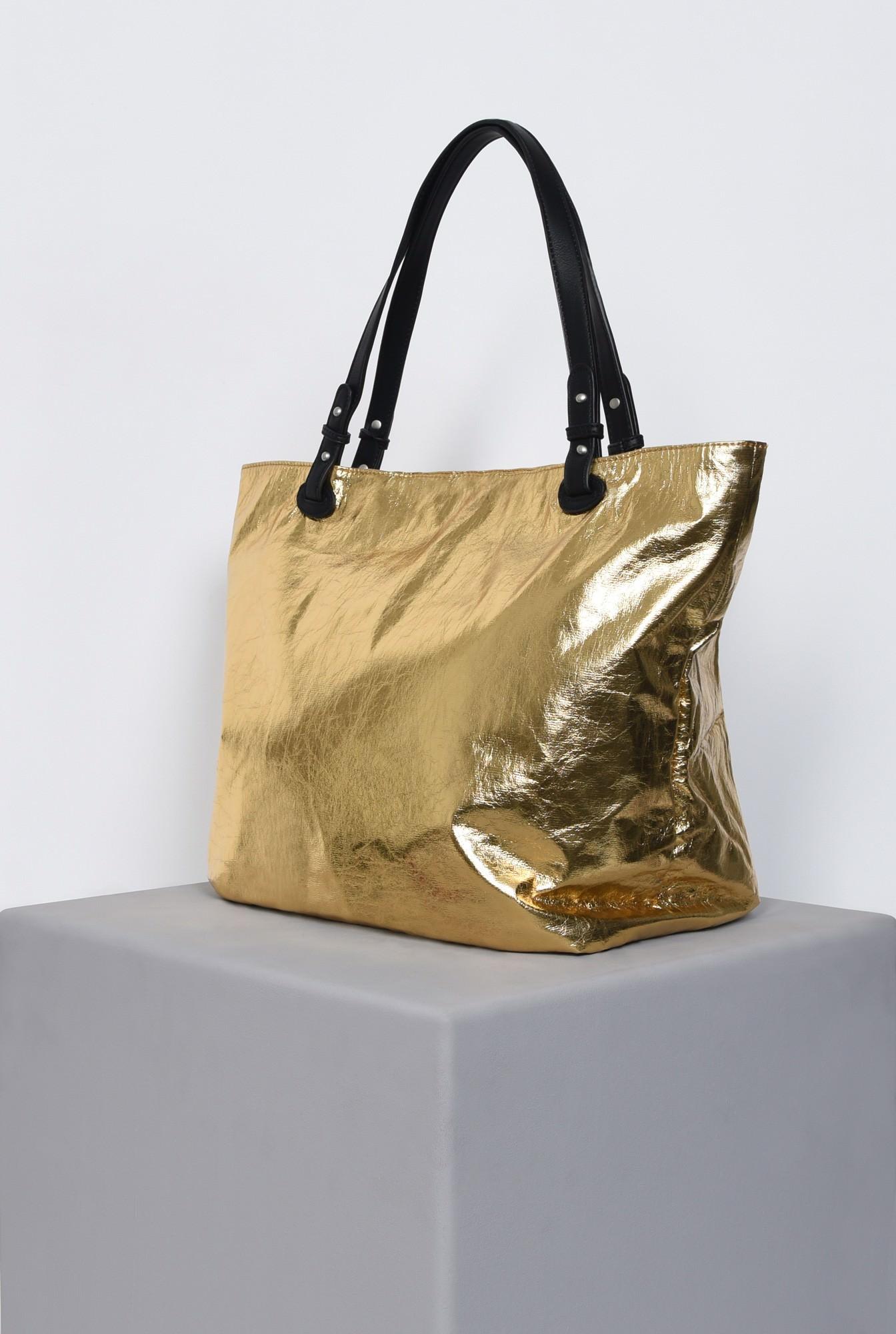 geanta maxi, auriu, accesorii, lac