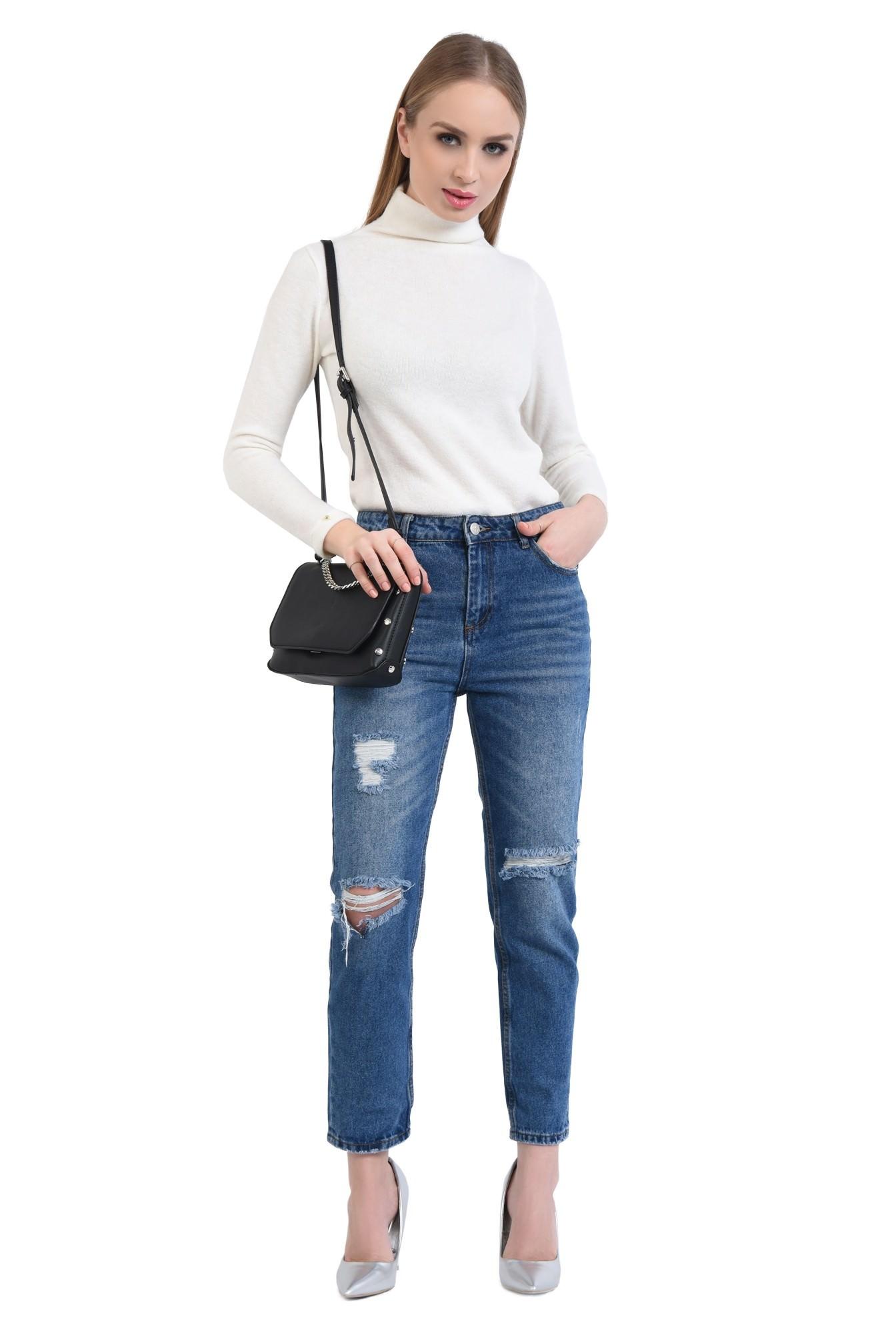 360 - Pantaloni casual, denim, bumbac